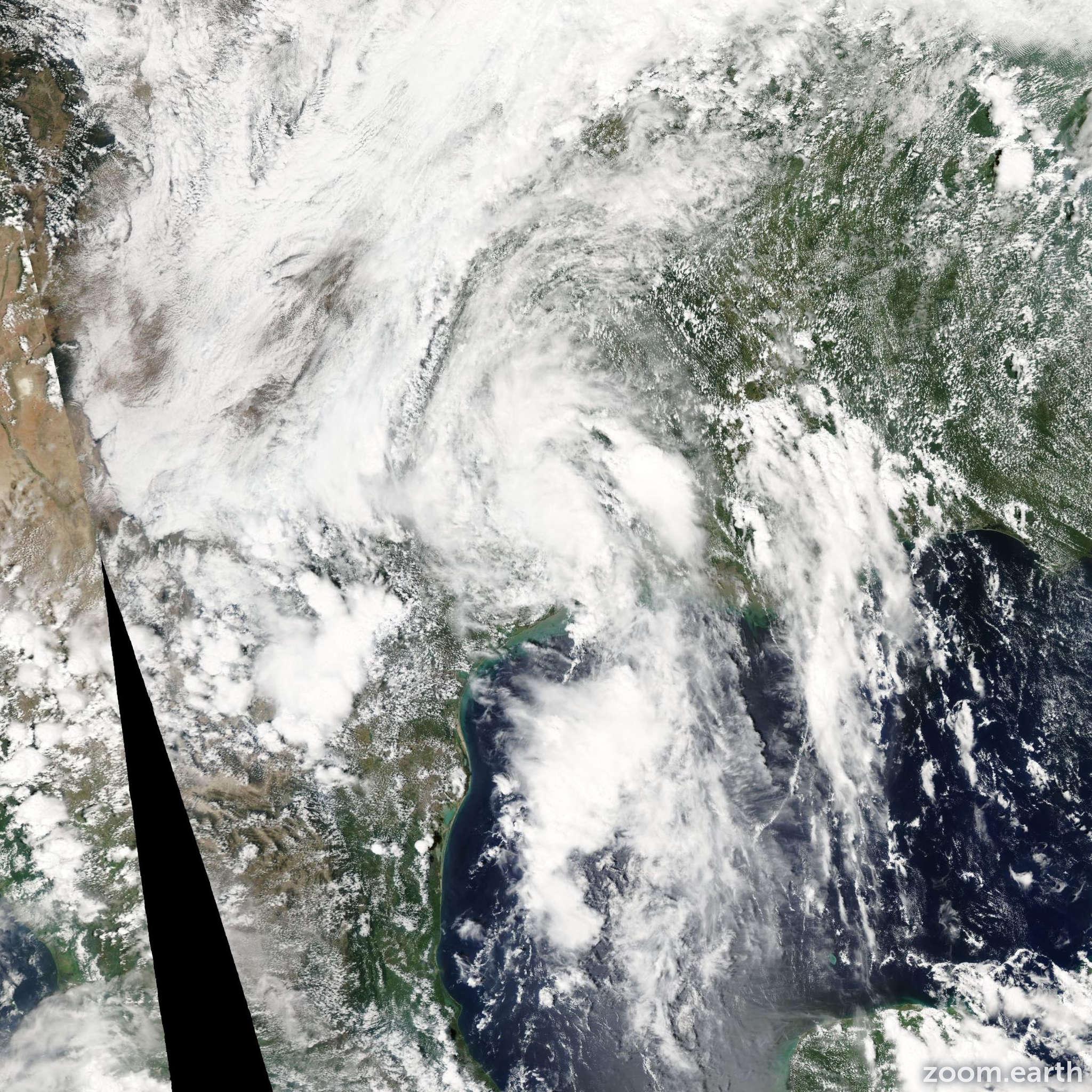 Satellite image of Storm Grace 2003