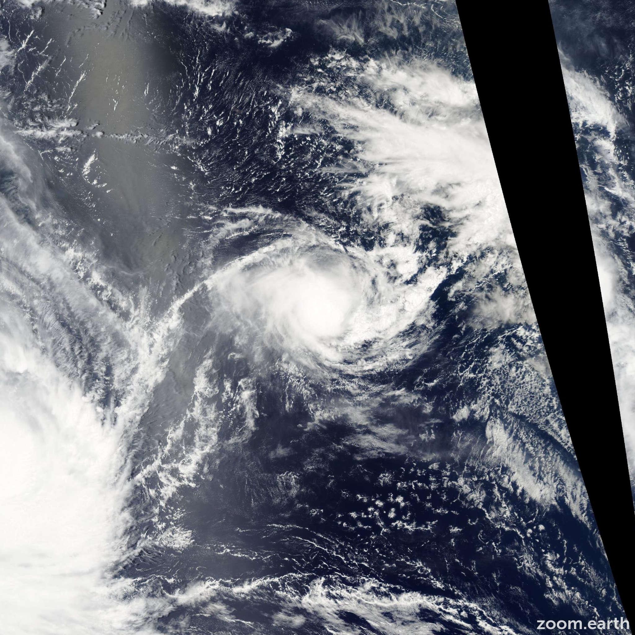 Satellite image of Cyclone Hape 2003