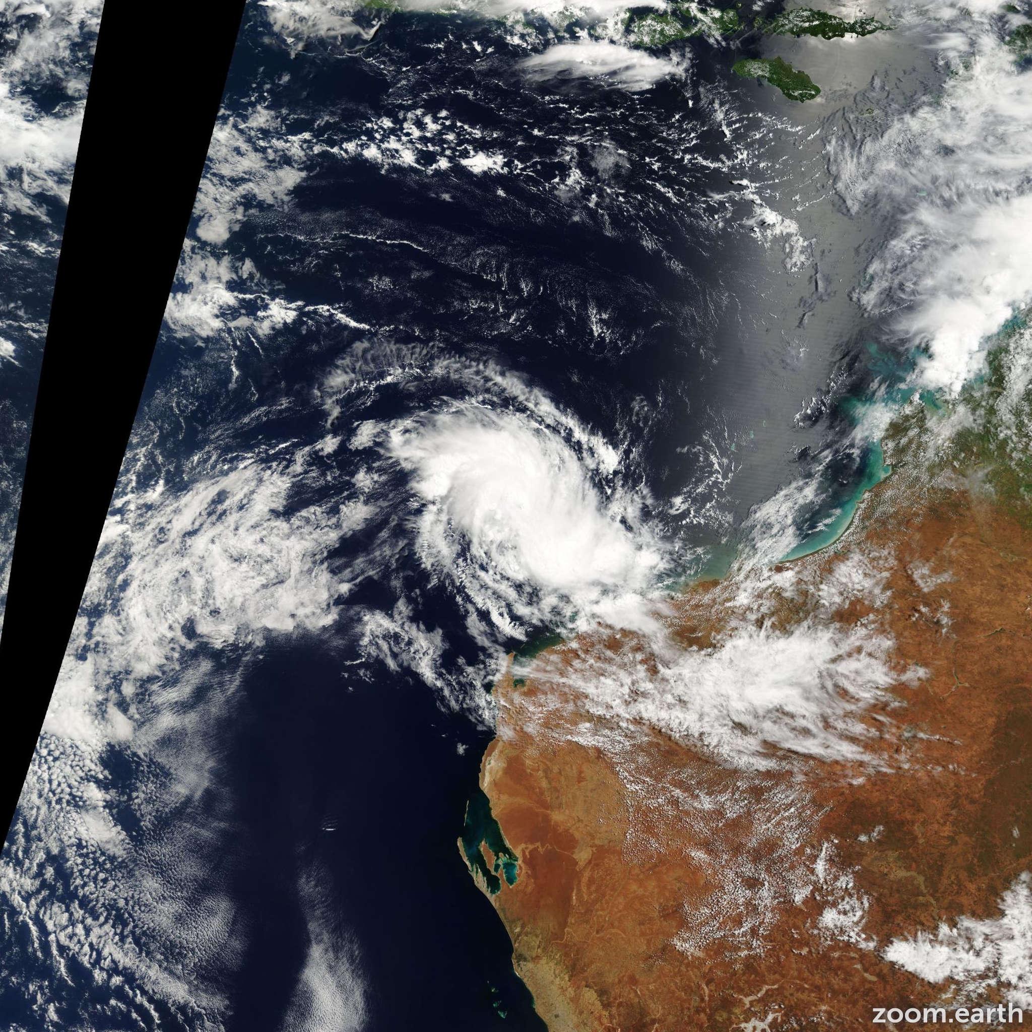 Satellite image of Cyclone Harriet 2003