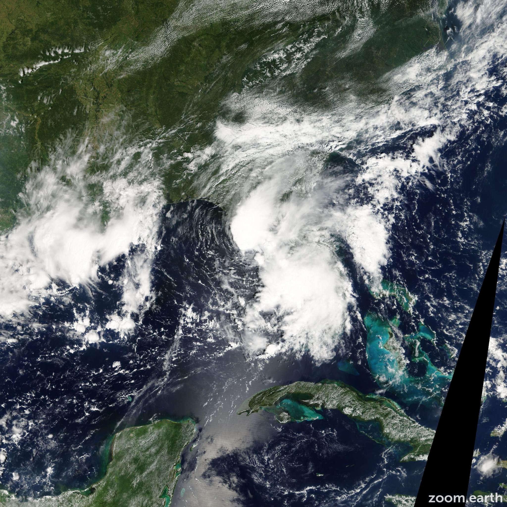 Satellite image of Storm Henri 2003