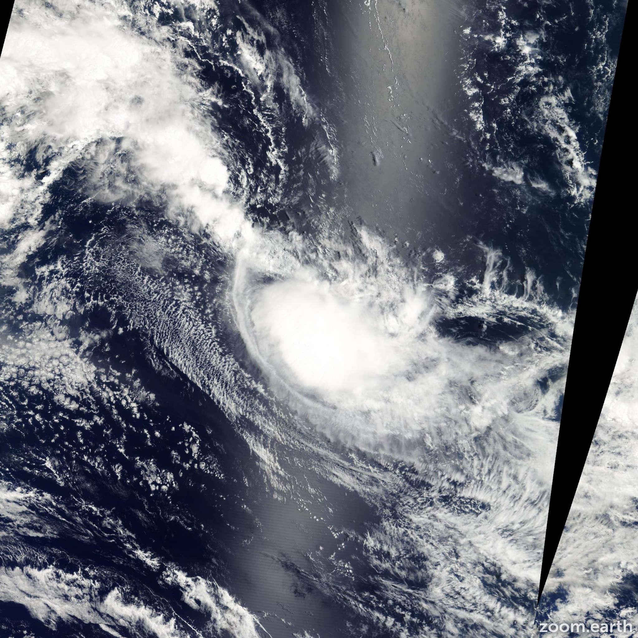 Satellite image of Storm Isha 2003