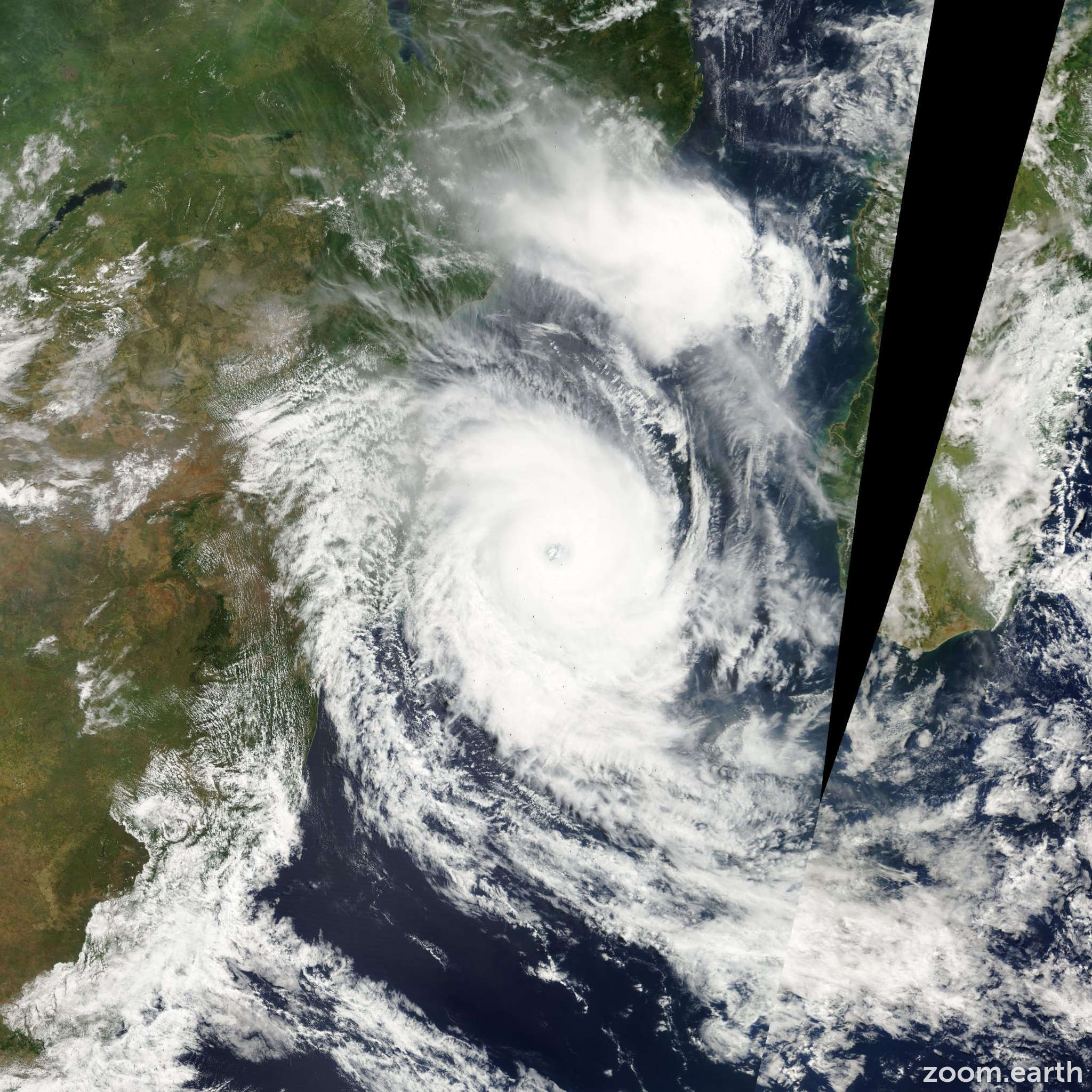 Satellite image of Cyclone Japhet 2003