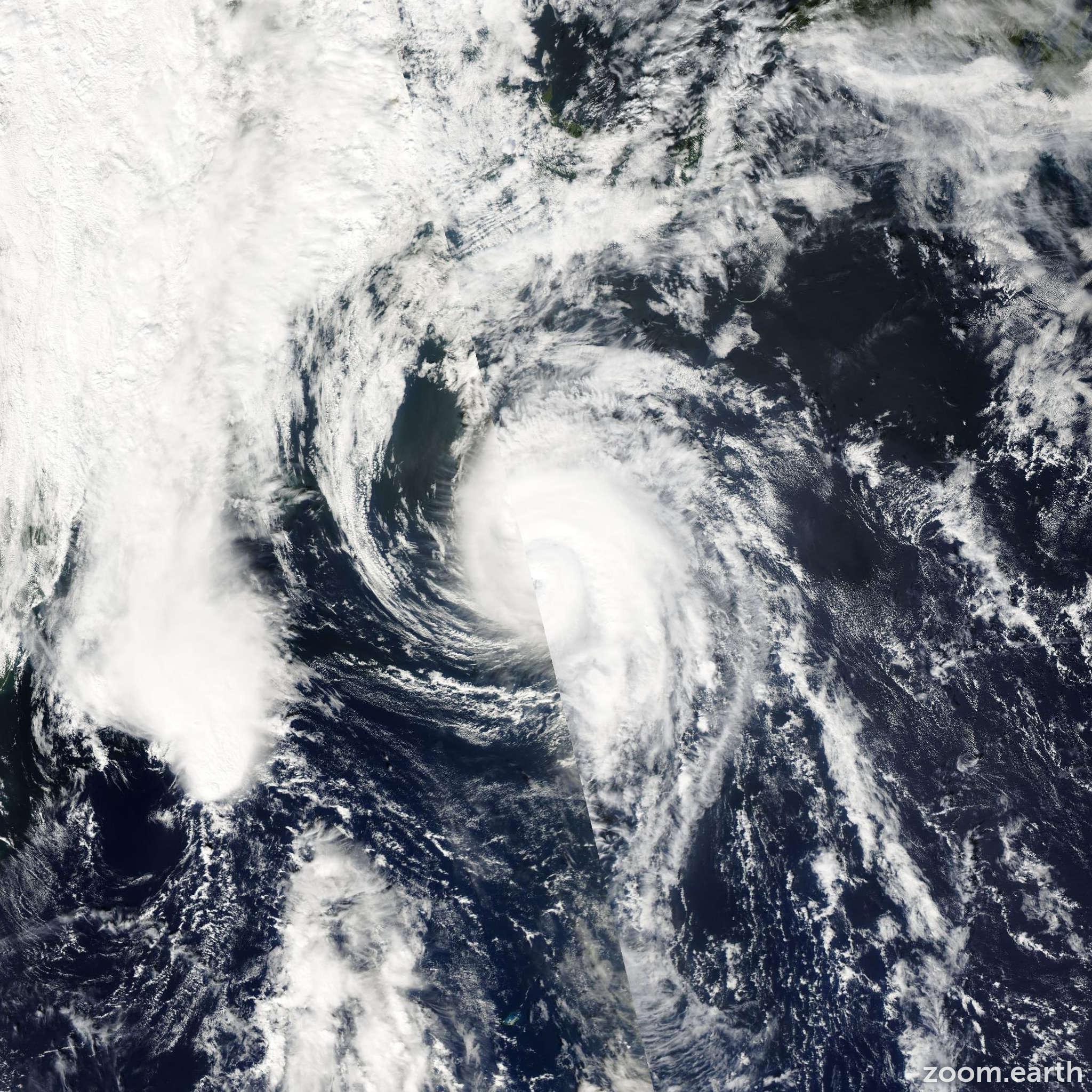 Satellite image of Hurricane Juan 2003