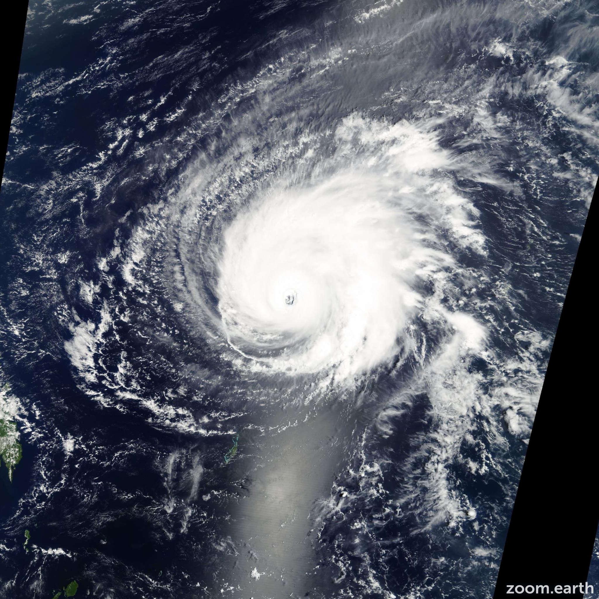 Satellite image of Typhoon Kujira 2003