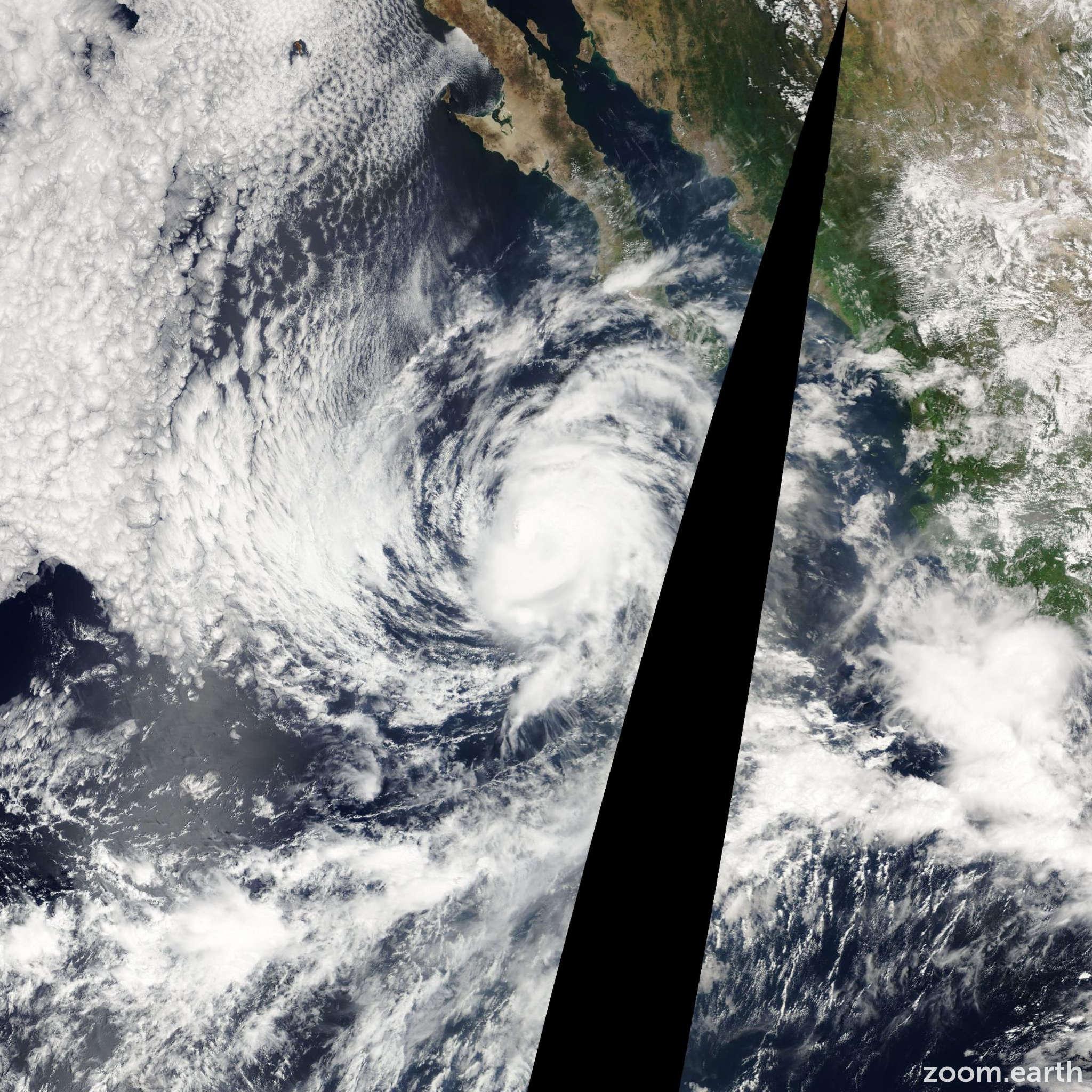 Satellite image of Hurricane Linda 2003