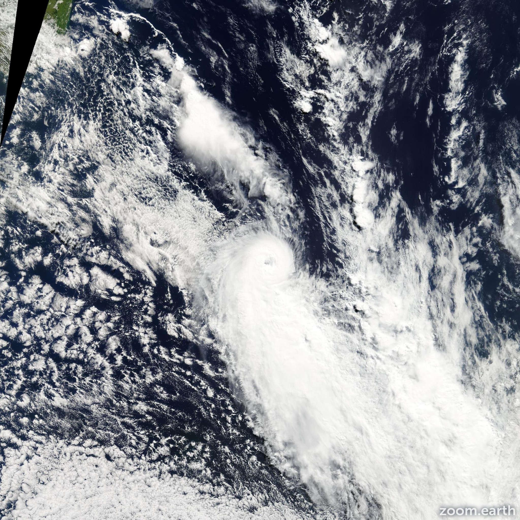 Satellite image of Cyclone Luma 2003