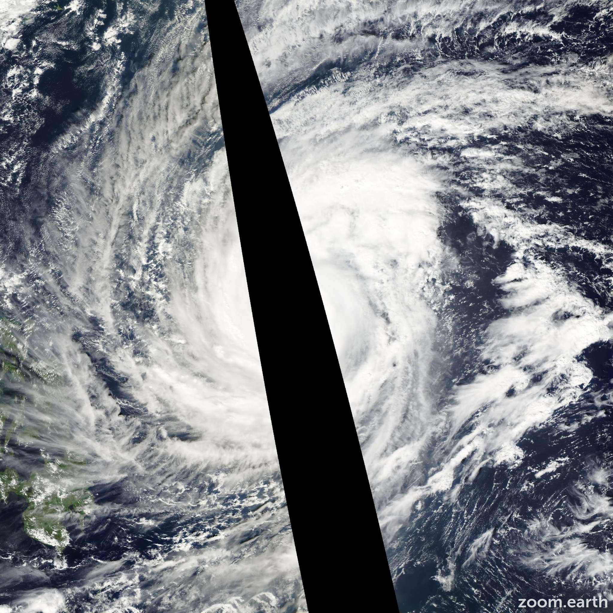 Satellite image of Typhoon Lupit 2003