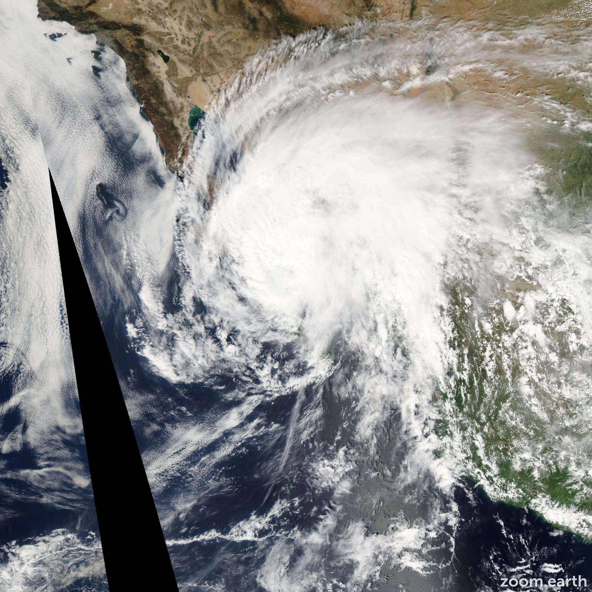 Satellite image of Hurricane Marty 2003