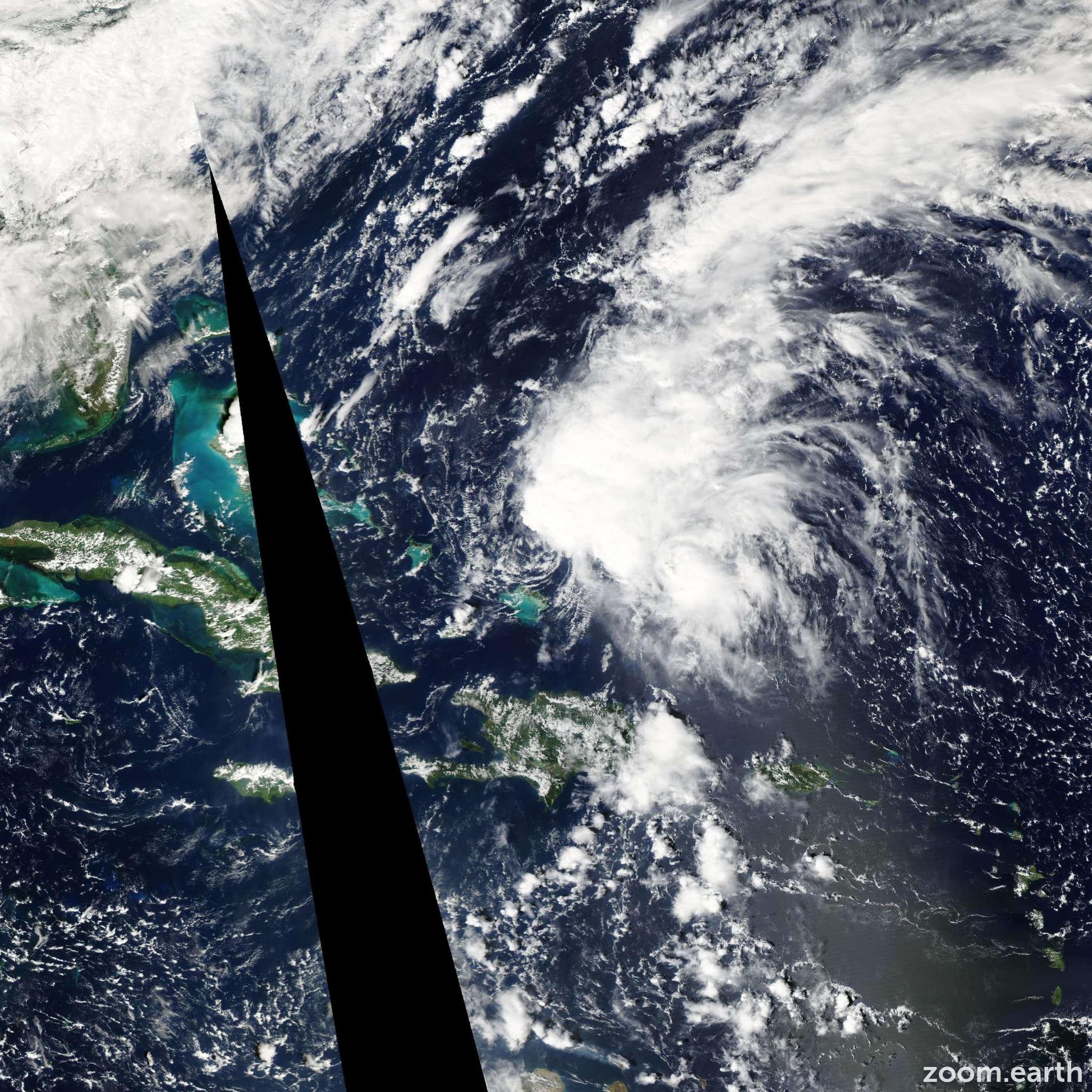 Satellite image of Storm Mindy 2003