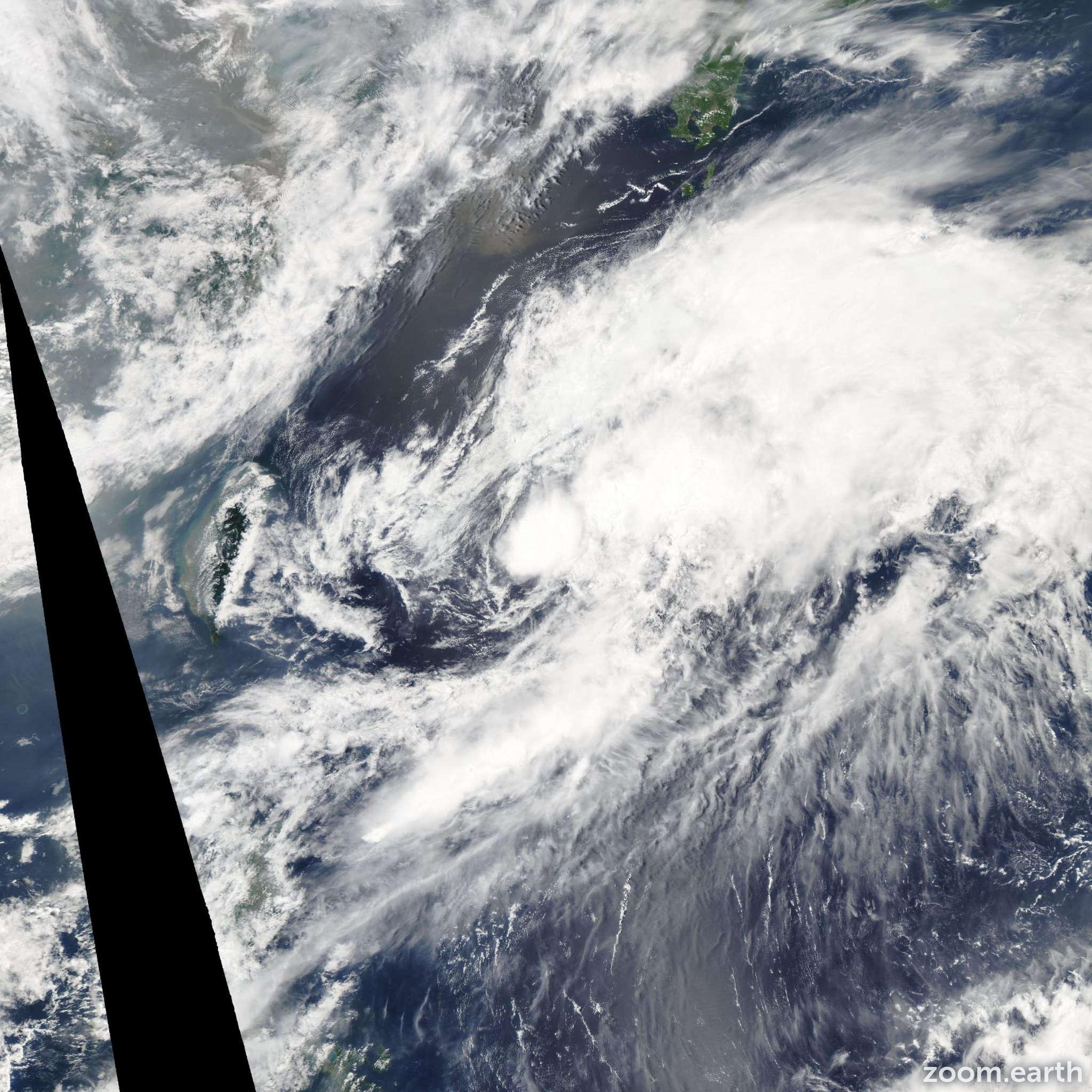 Satellite image of Storm Nangka 2003