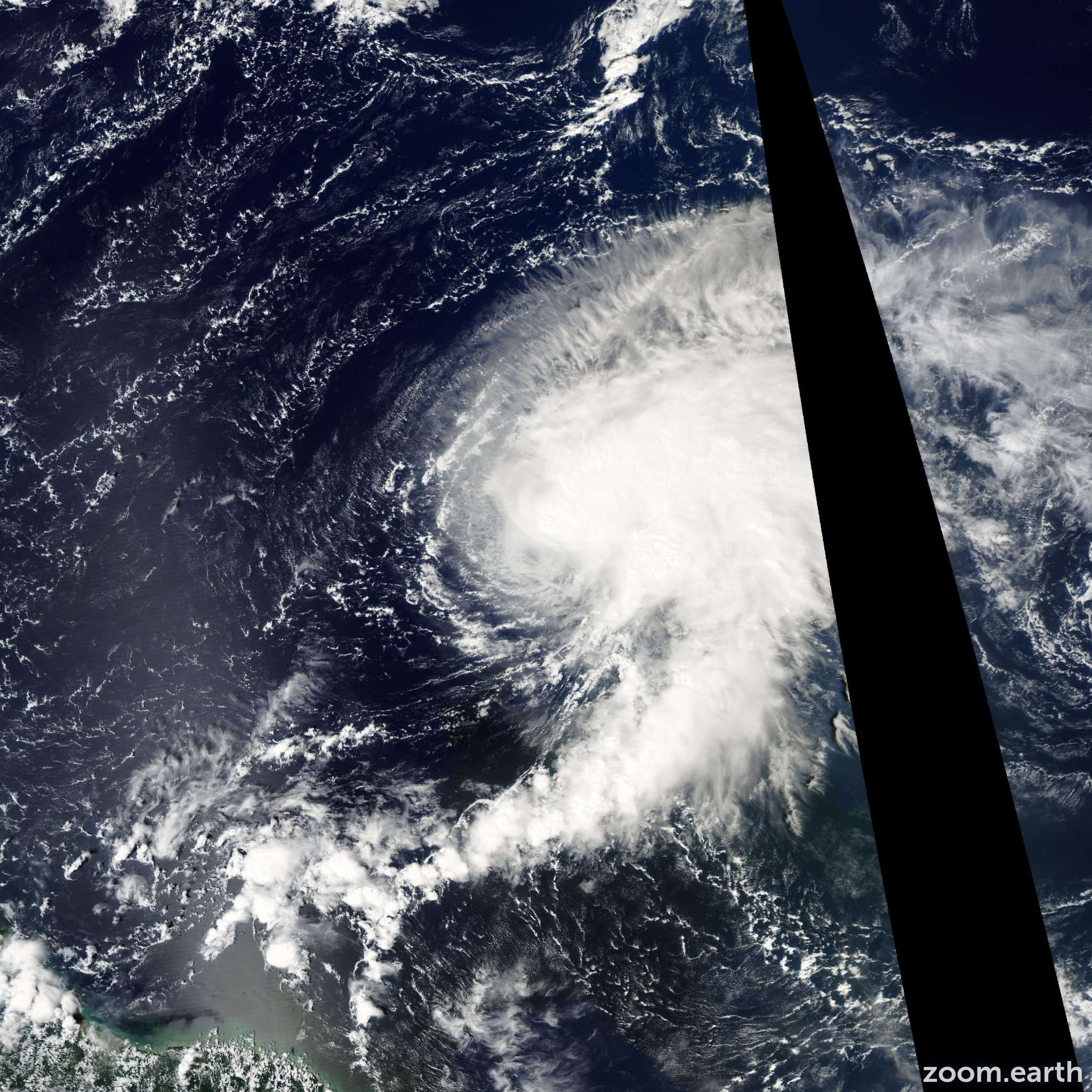 Satellite image of Storm Nicholas 2003