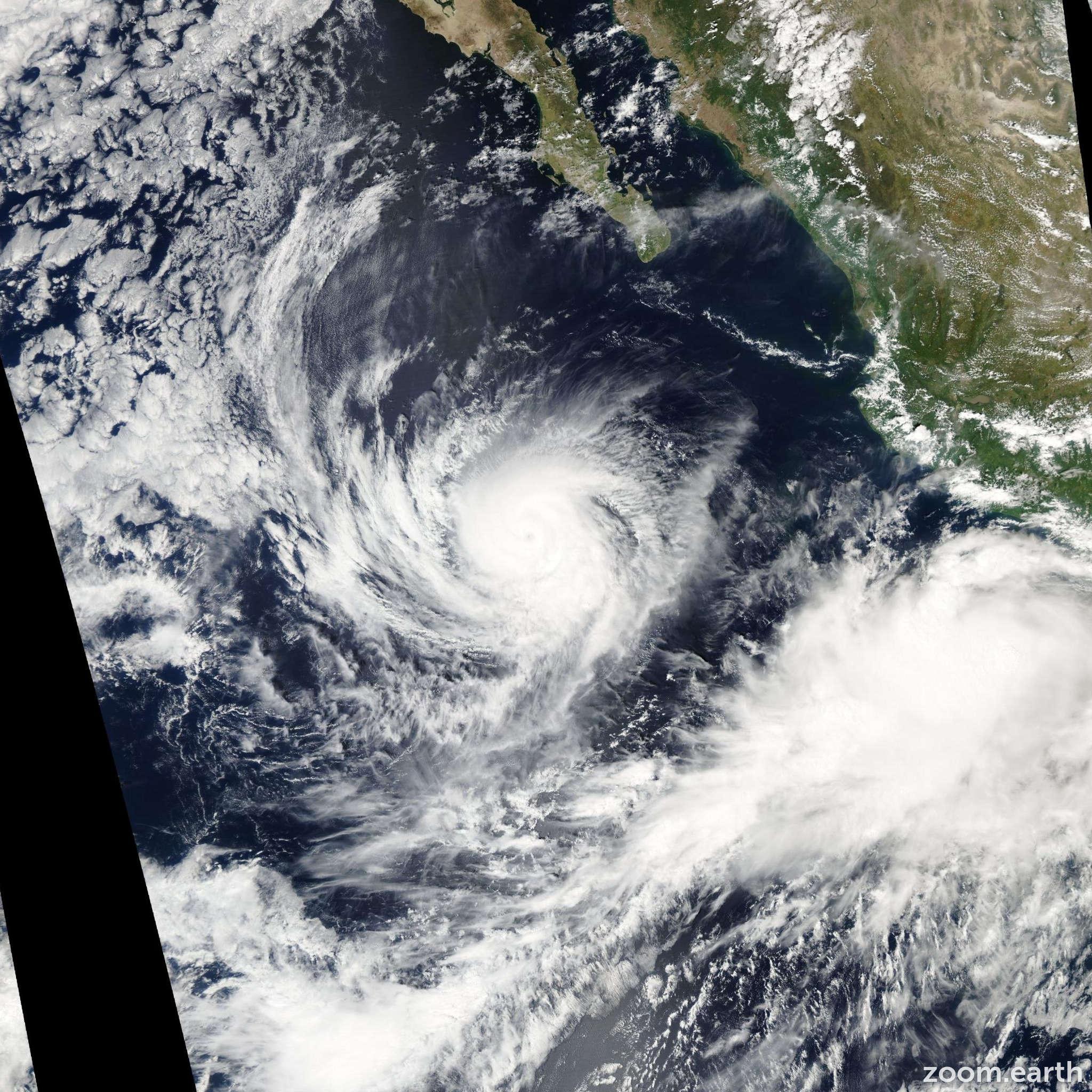 Satellite image of Hurricane Nora 2003