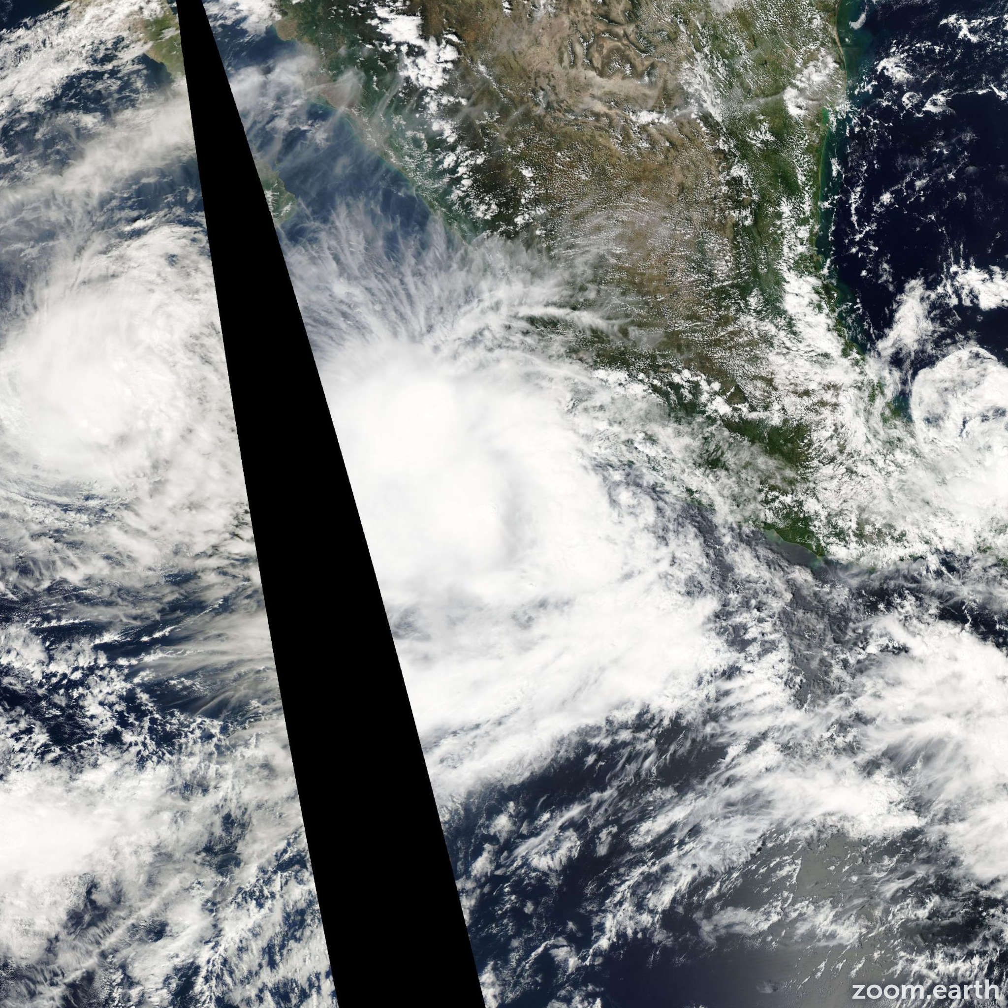 Satellite image of Hurricane Olaf 2003