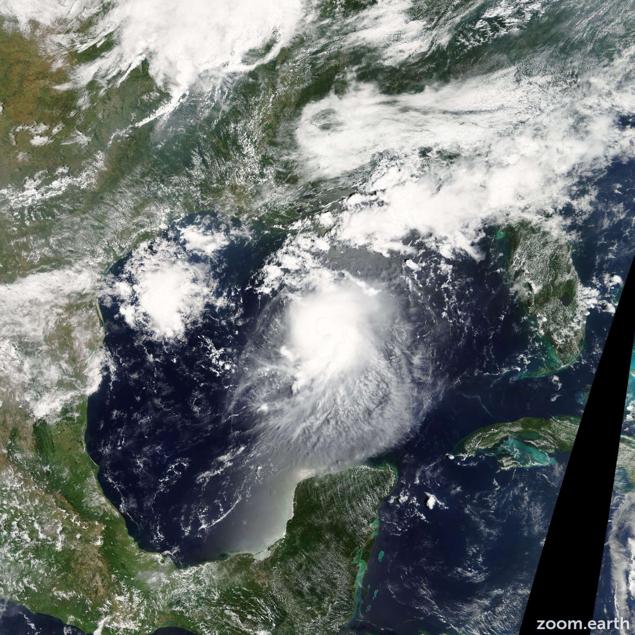 Satellite image of Storm Bonnie 2004