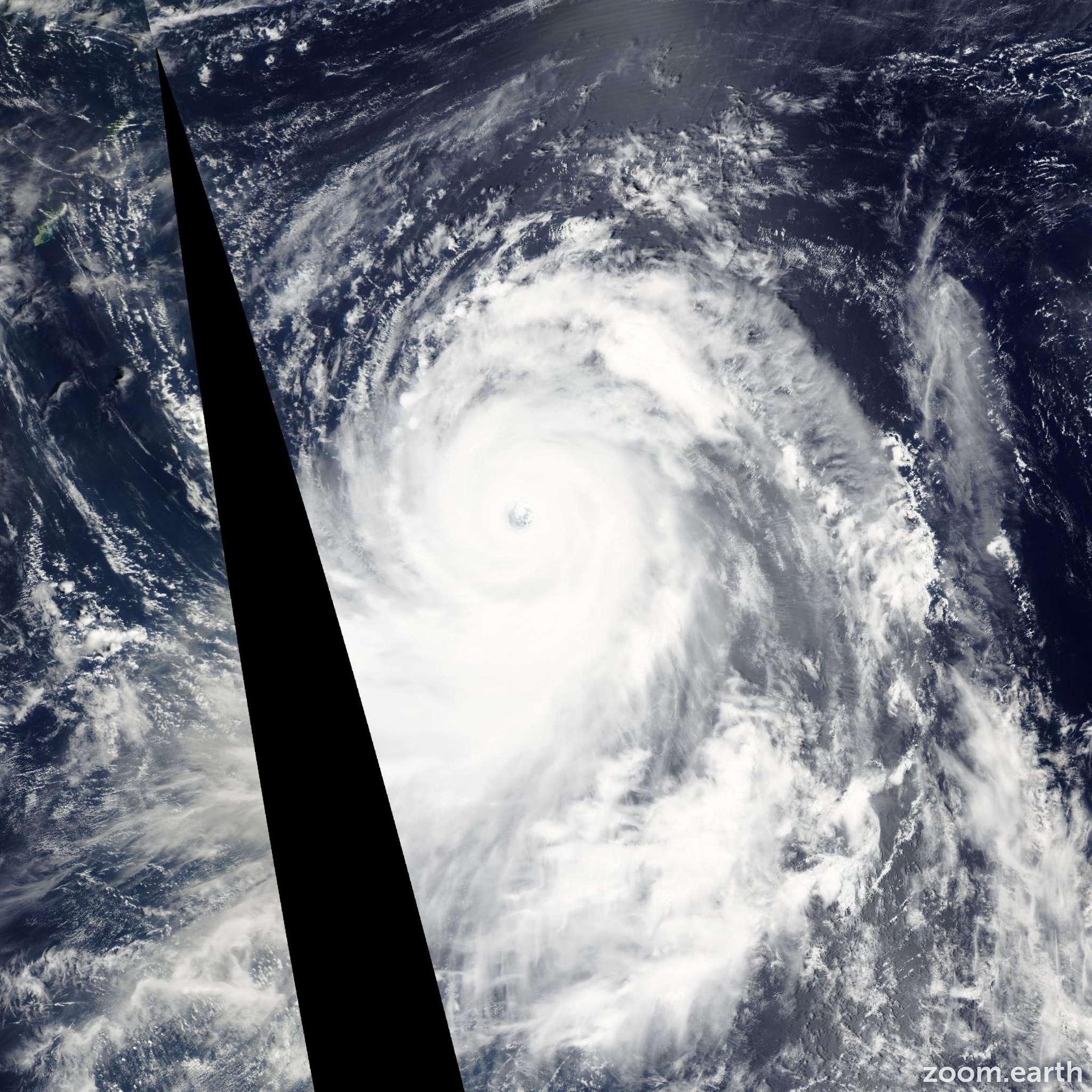 Satellite image of Typhoon Chaba 2004