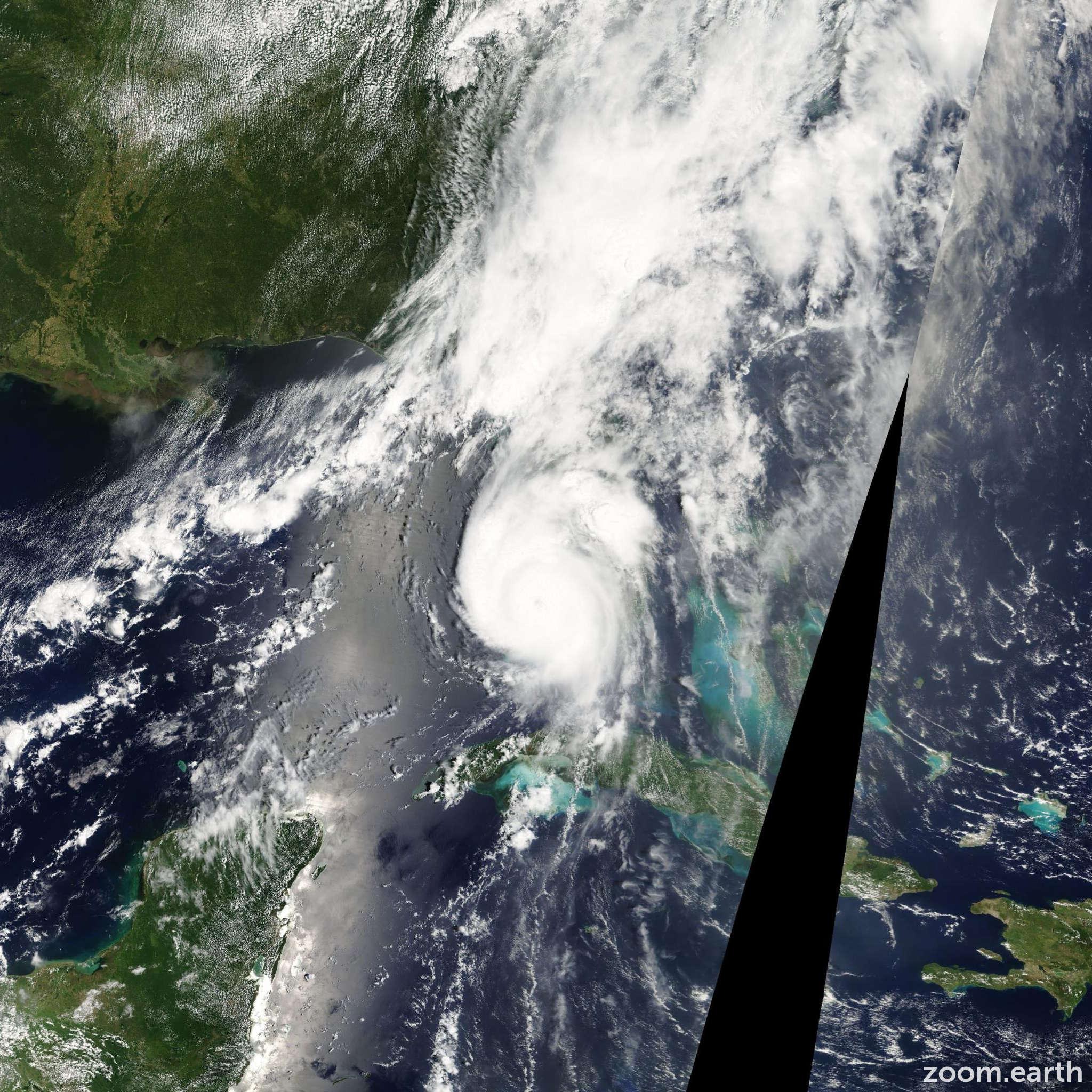 Satellite image of Hurricane Charley 2004