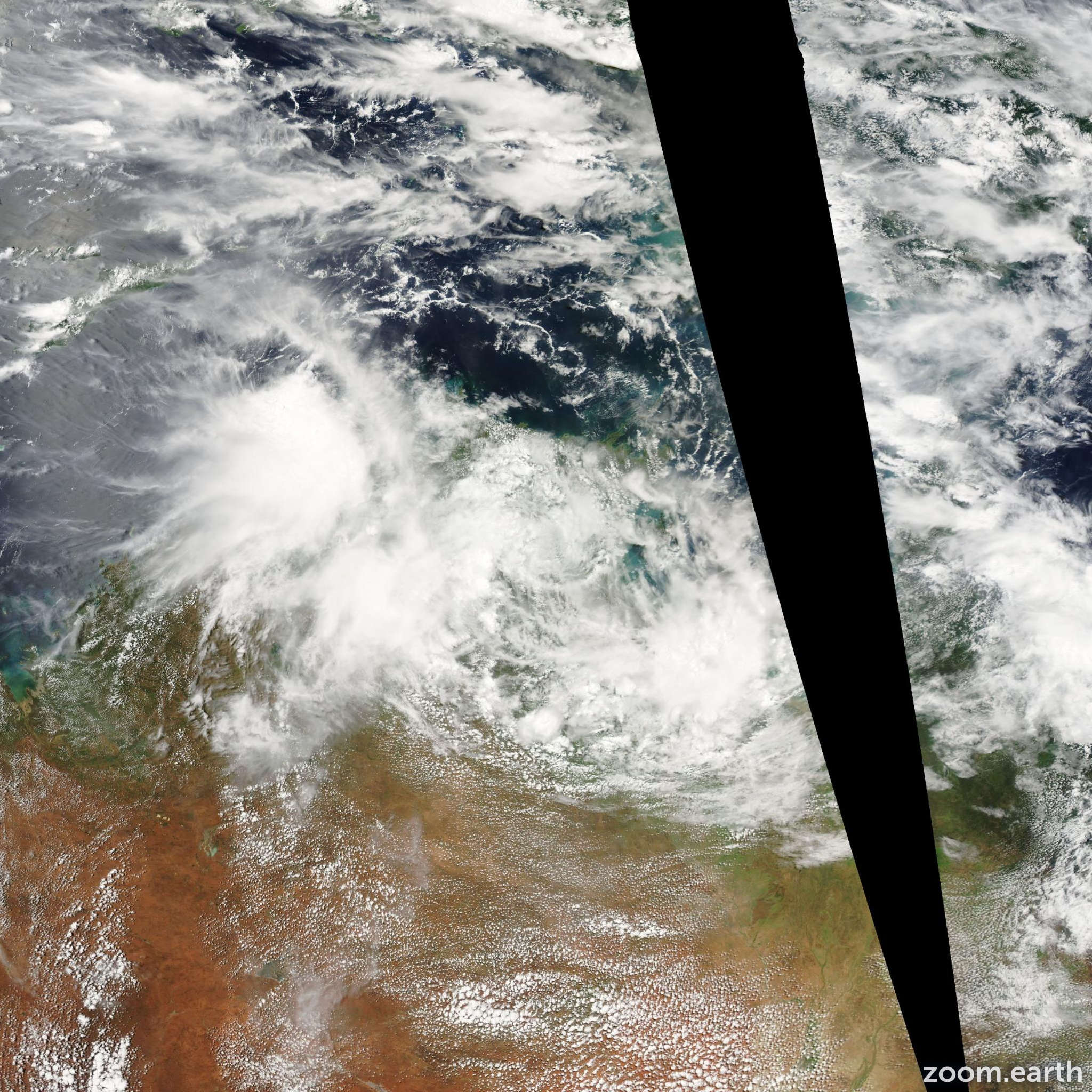Satellite image of Depression Evan 2004