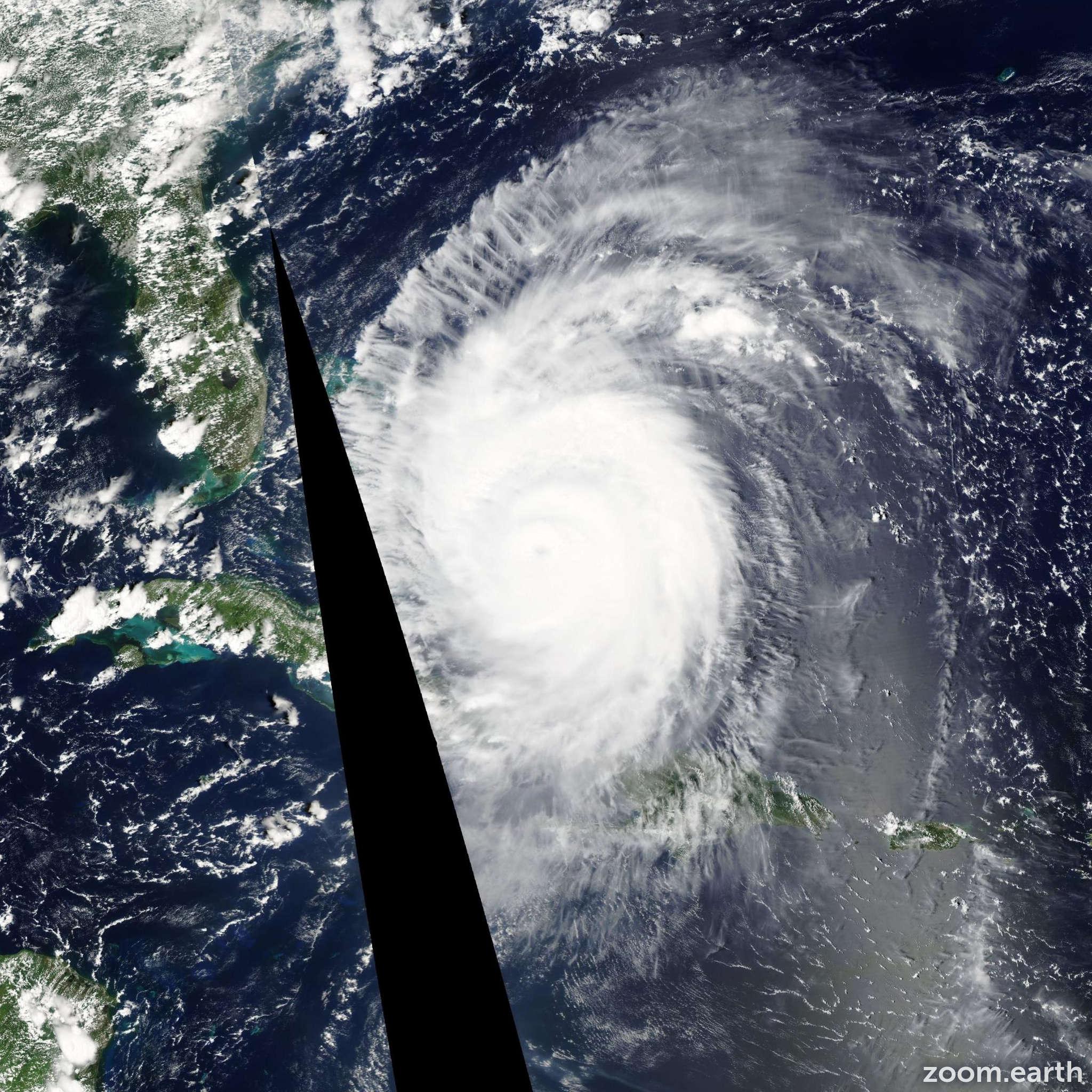 Satellite image of Hurricane Frances 2004