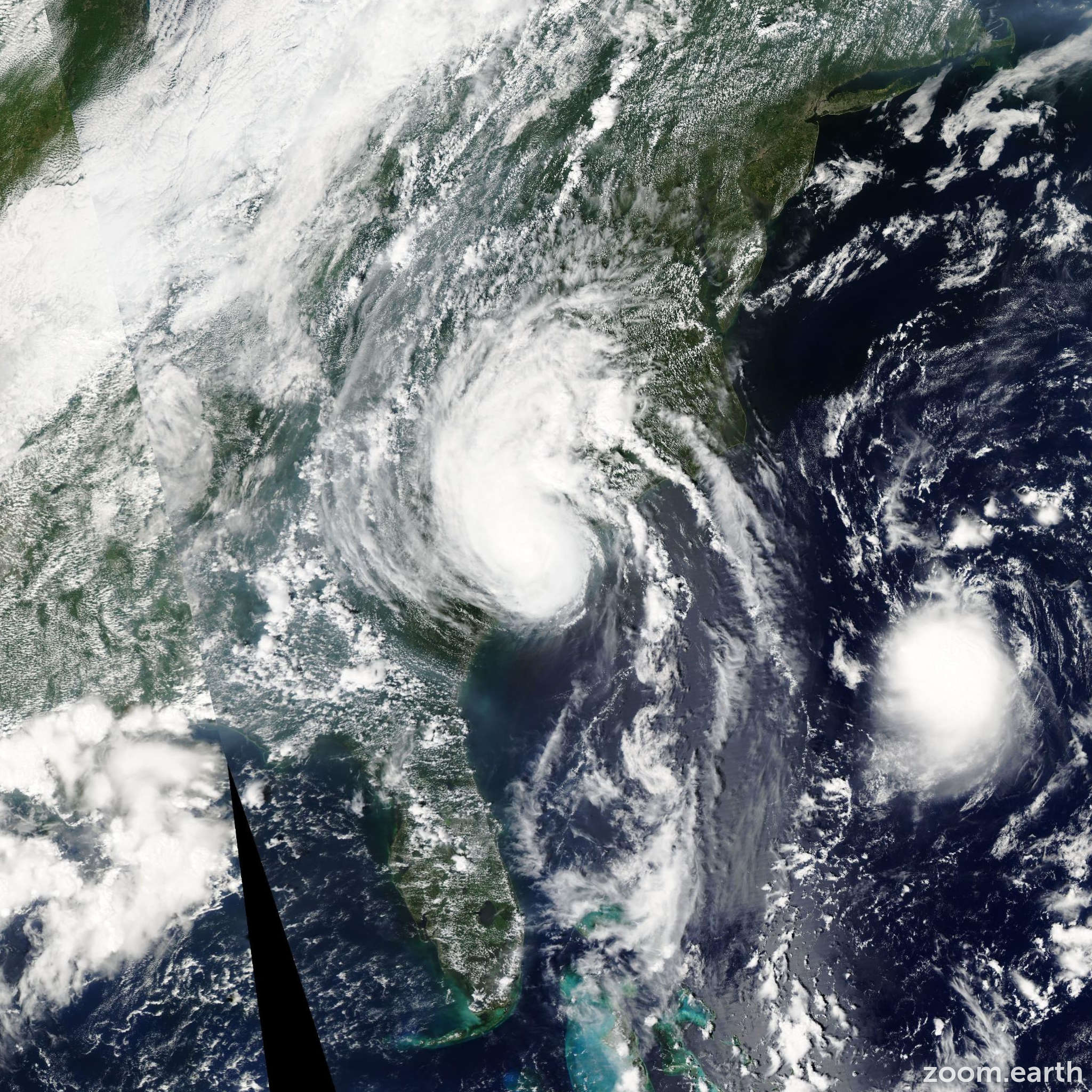 Satellite image of Hurricane Gaston 2004