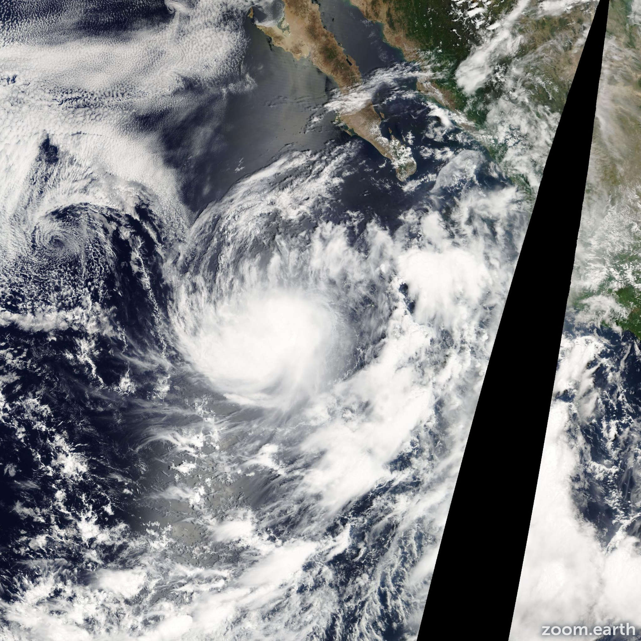 Satellite image of Storm Georgette 2004