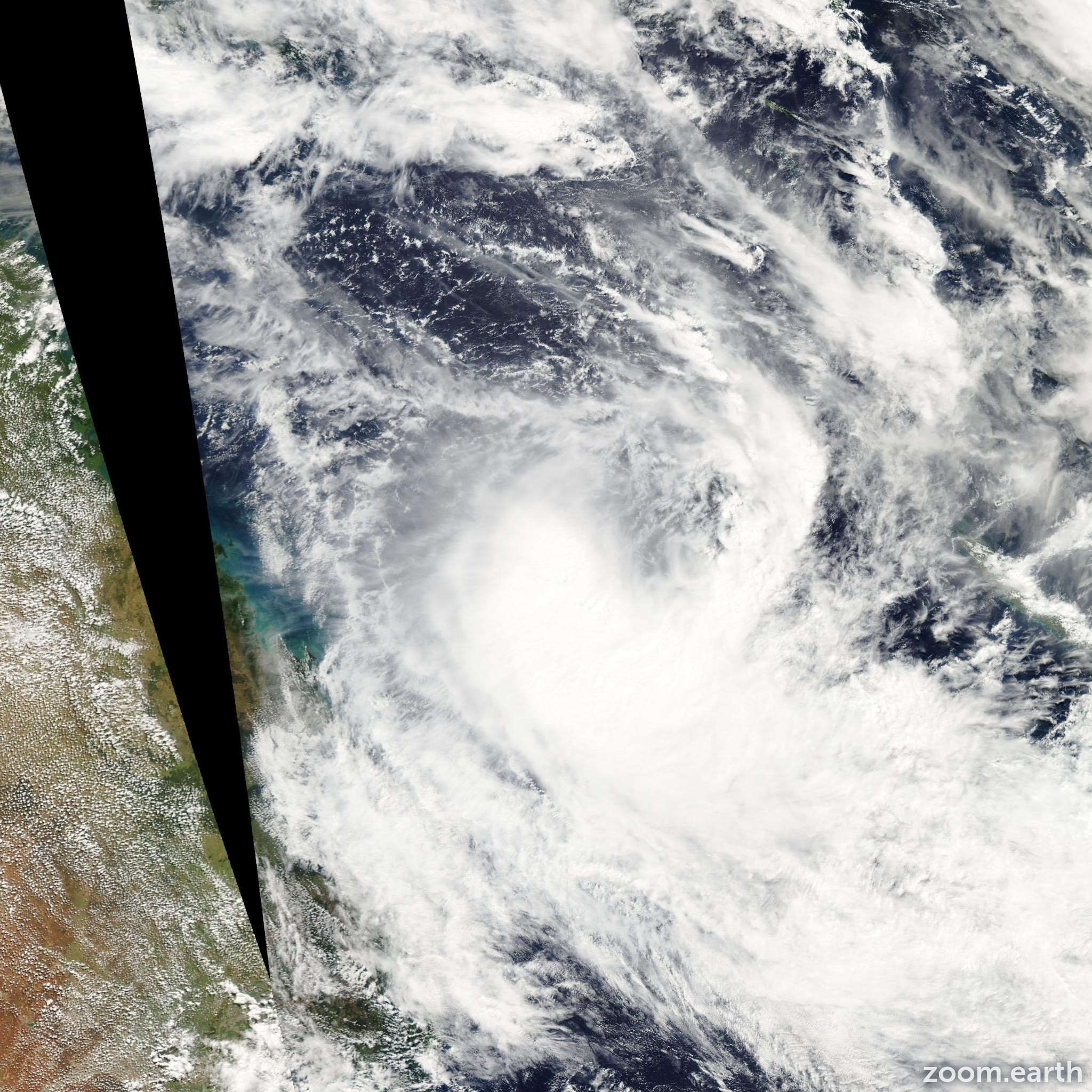 Satellite image of Cyclone Grace 2004