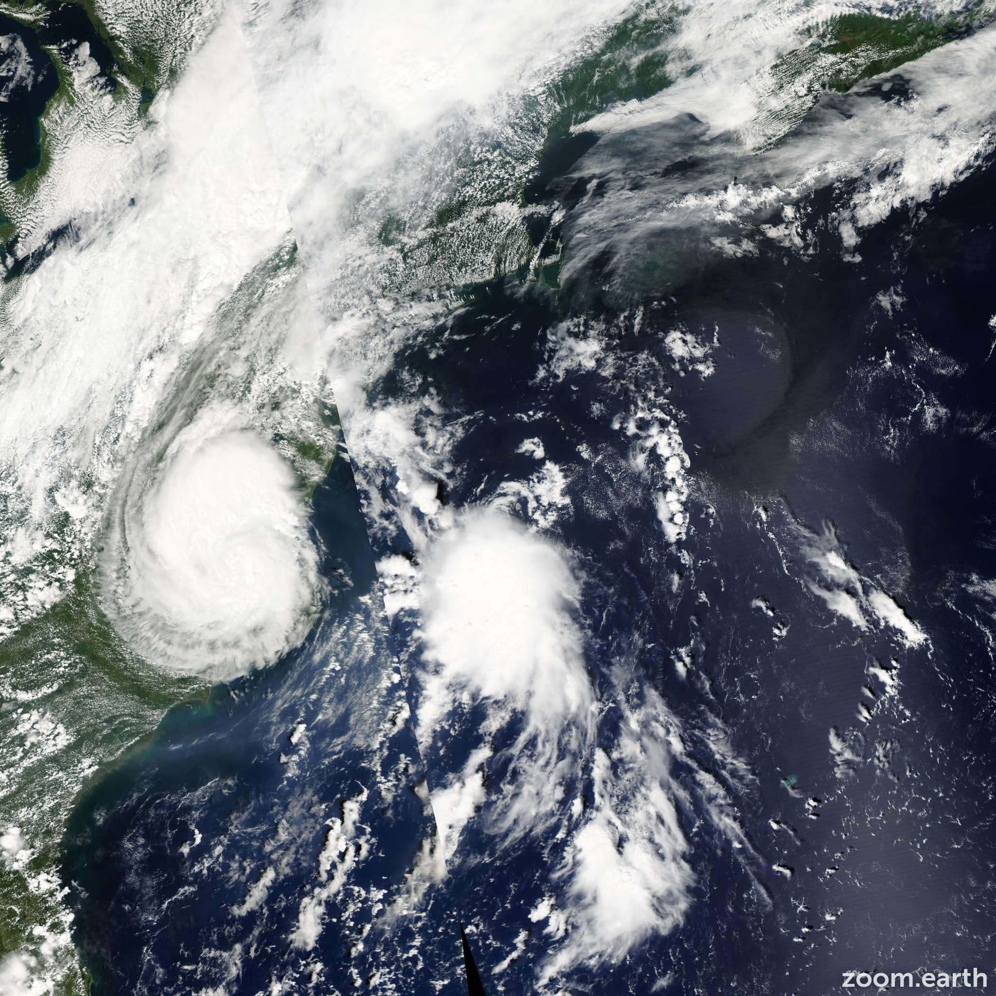 Satellite image of Storm Hermine 2004