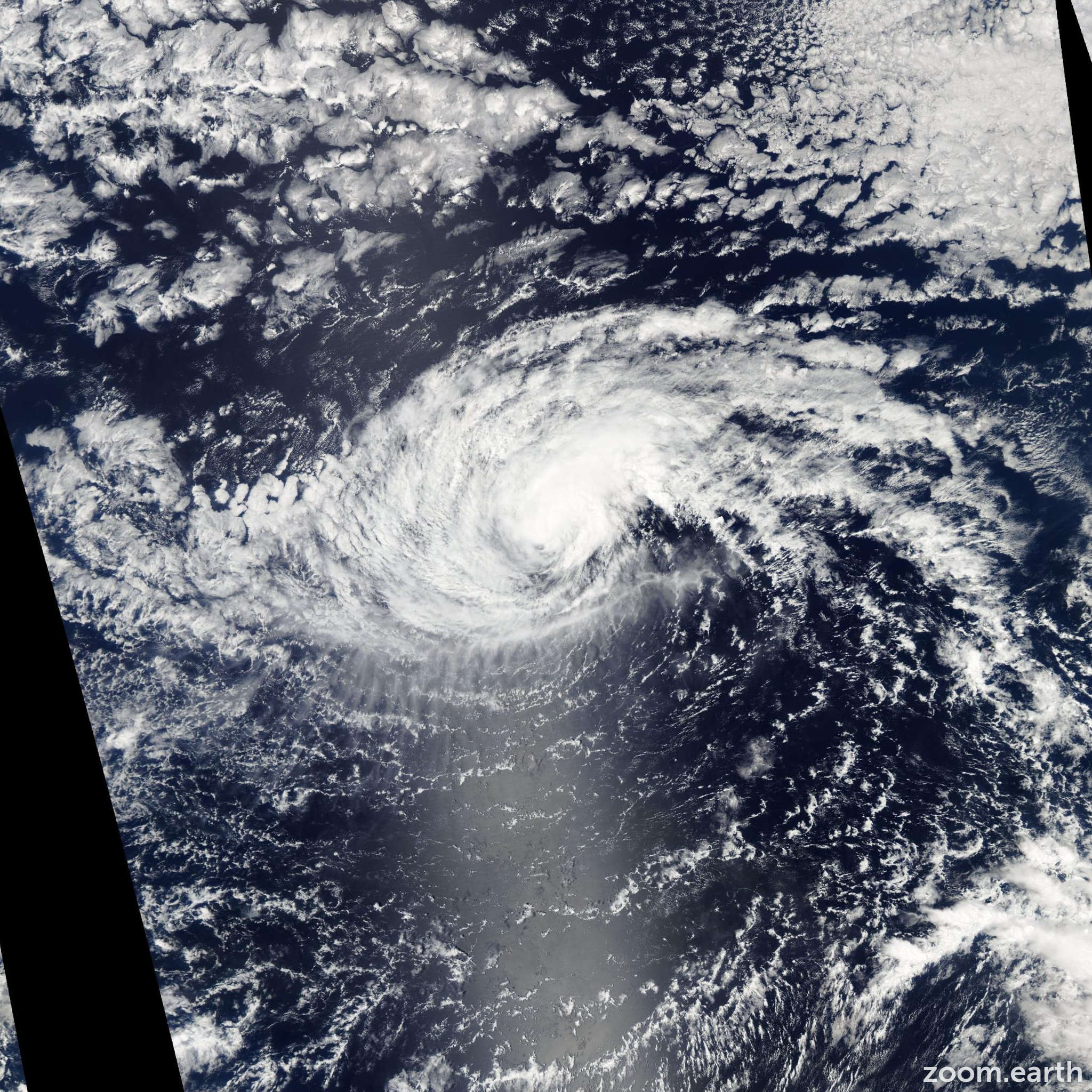 Satellite image of Hurricane Isis 2004
