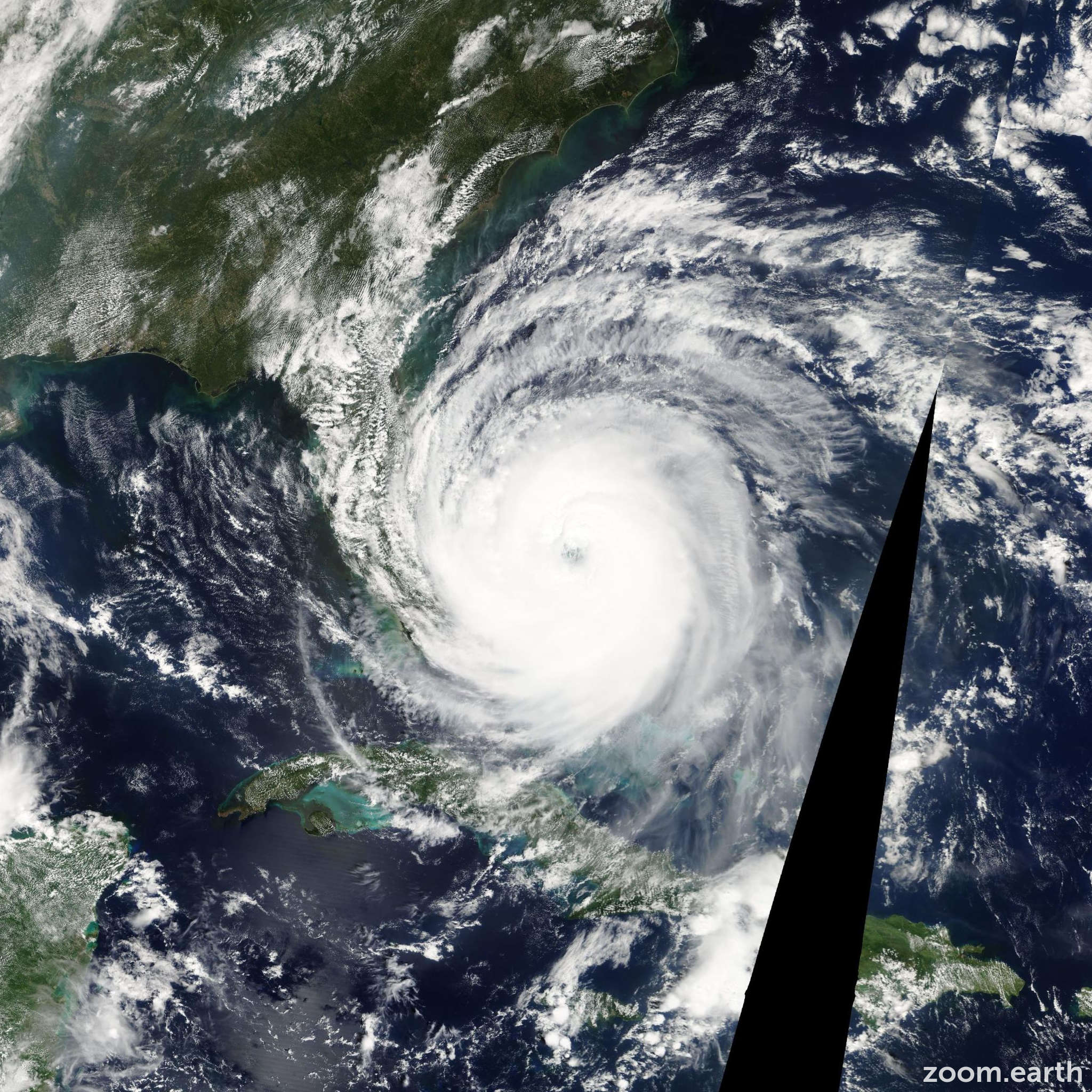 Satellite image of Hurricane Jeanne 2004