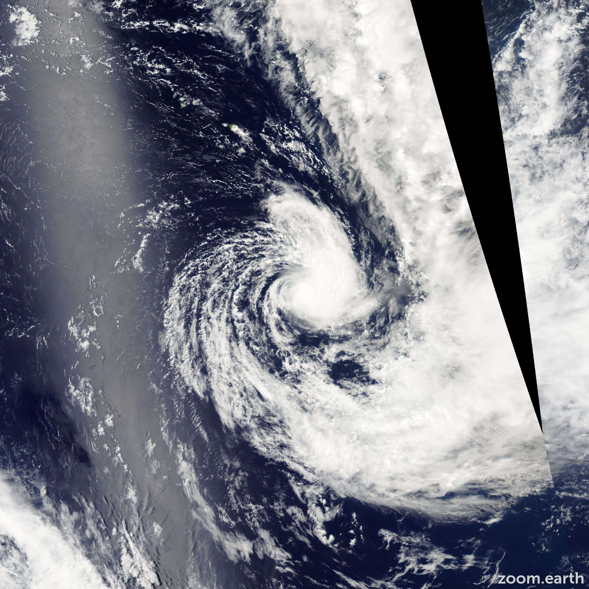 Satellite image of Cyclone Judy 2004