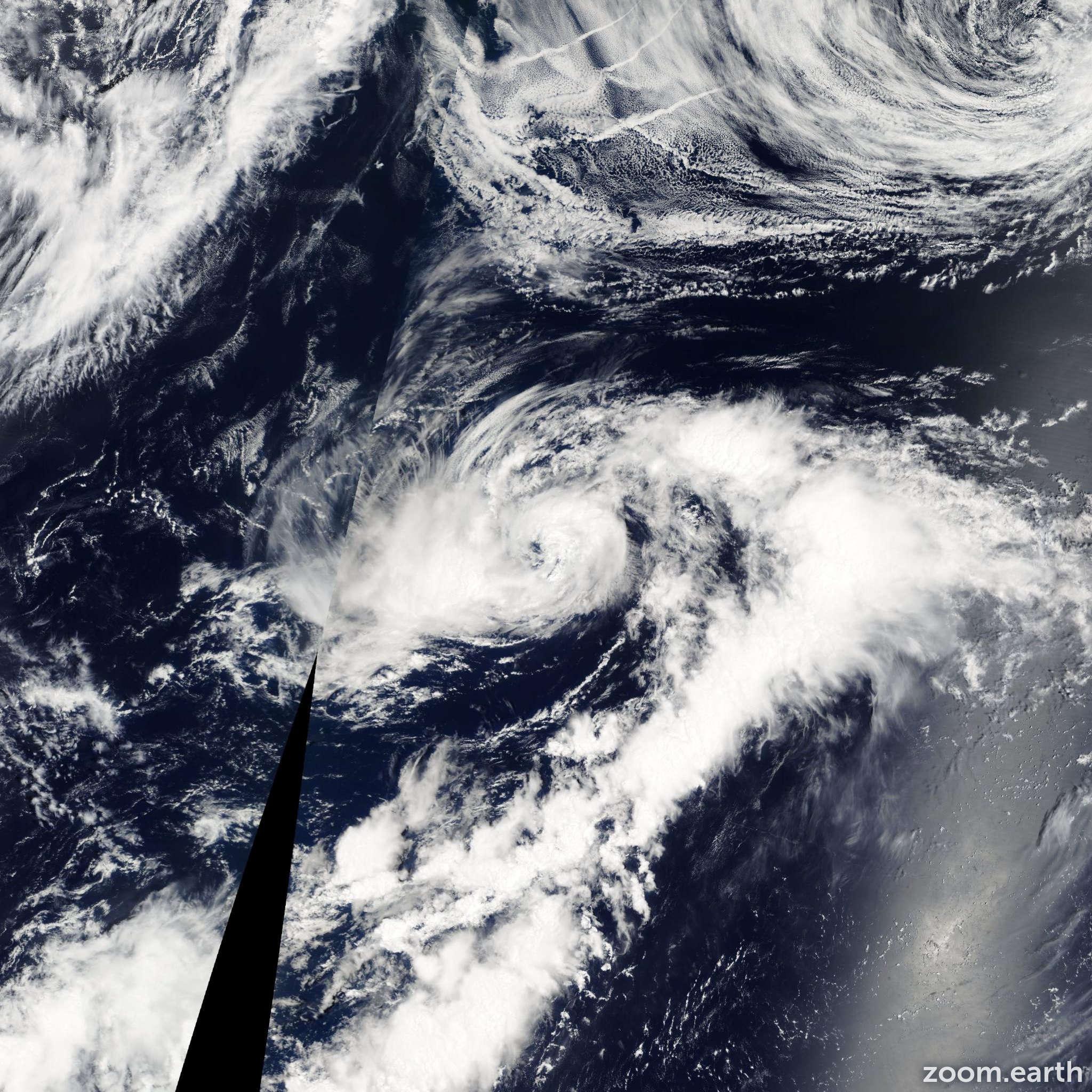 Satellite image of Storm Malakas 2004