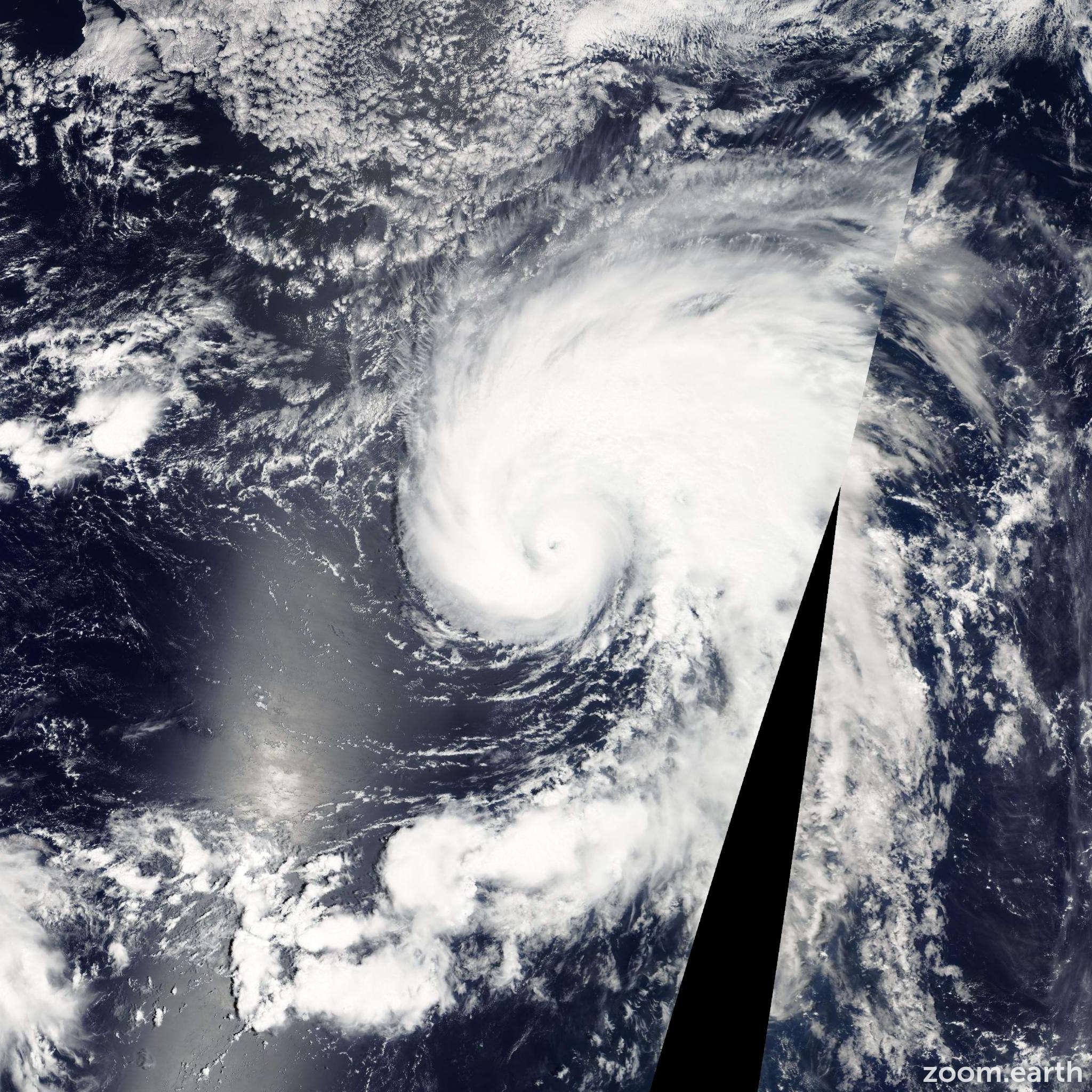 Satellite image of Typhoon Meranti 2004