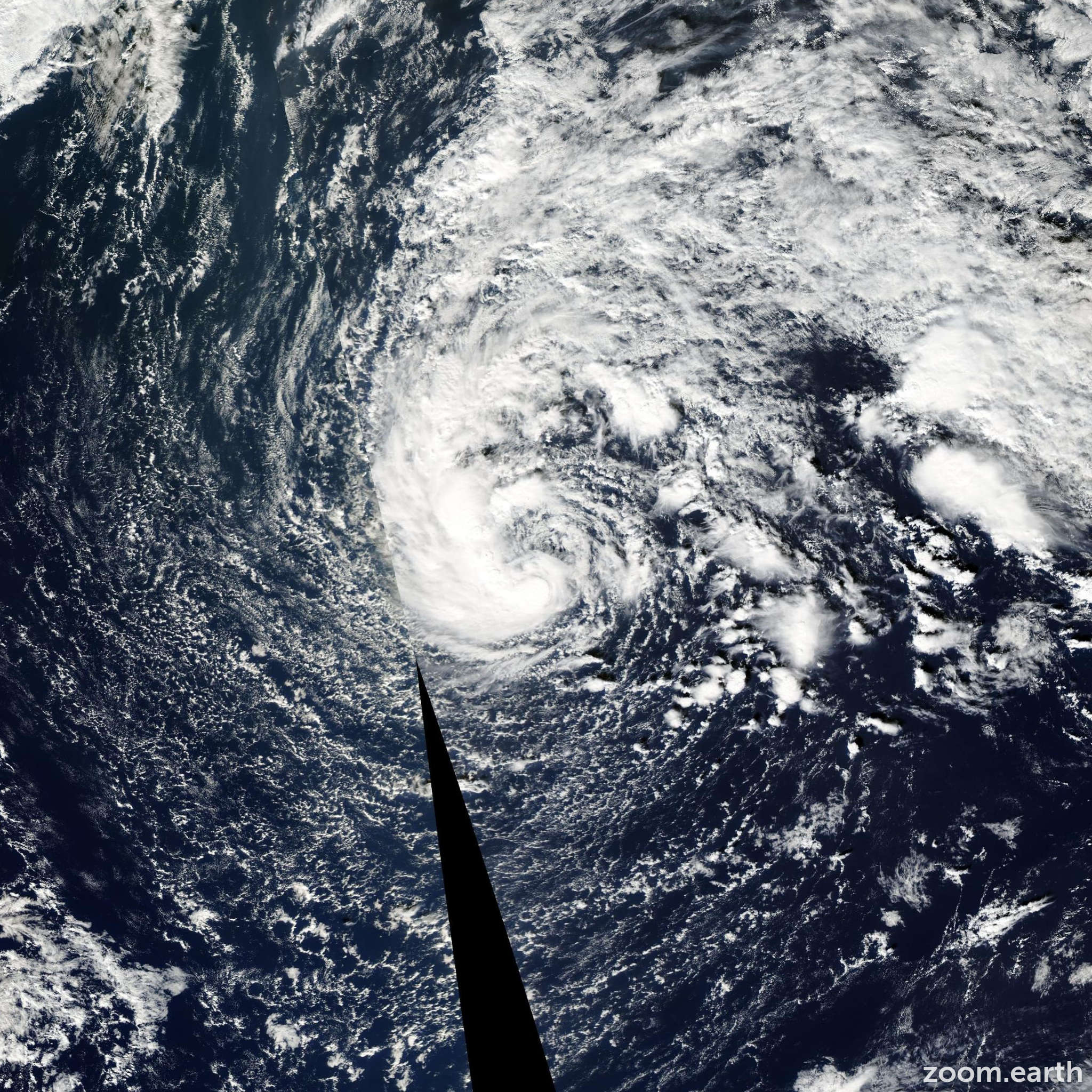 Satellite image of Storm Otto 2004