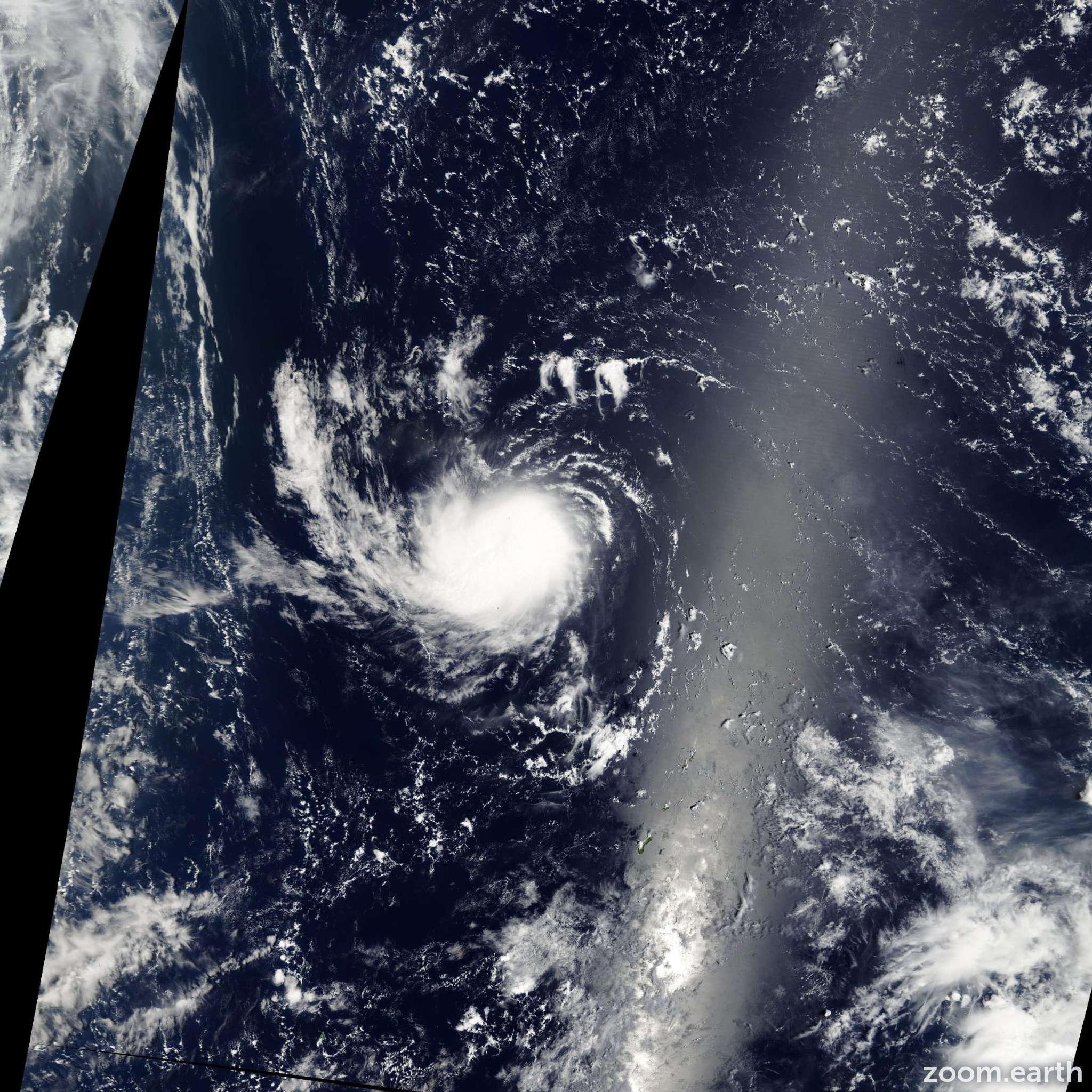 Satellite image of Storm Sarika 2004