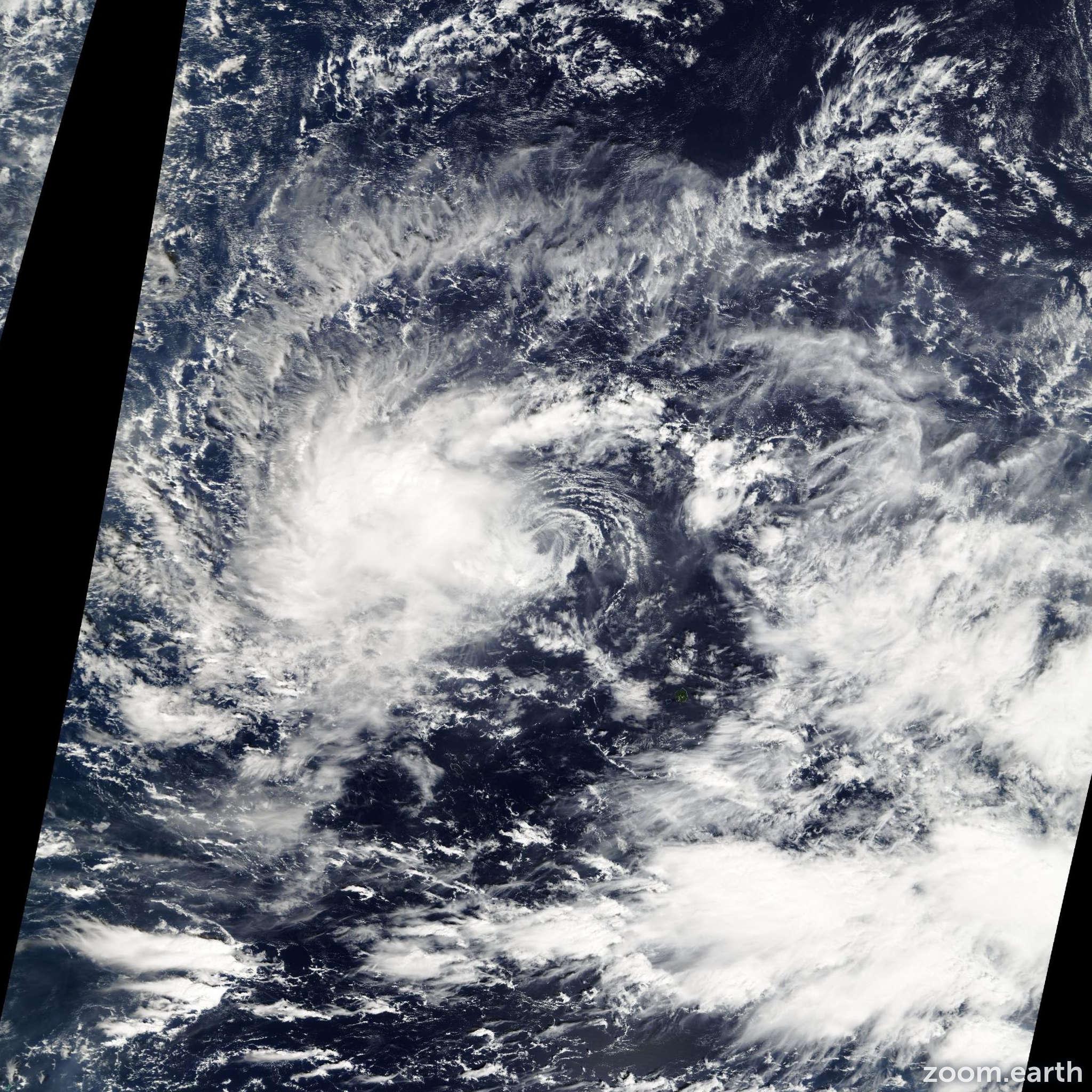 Satellite image of Storm Talas 2004