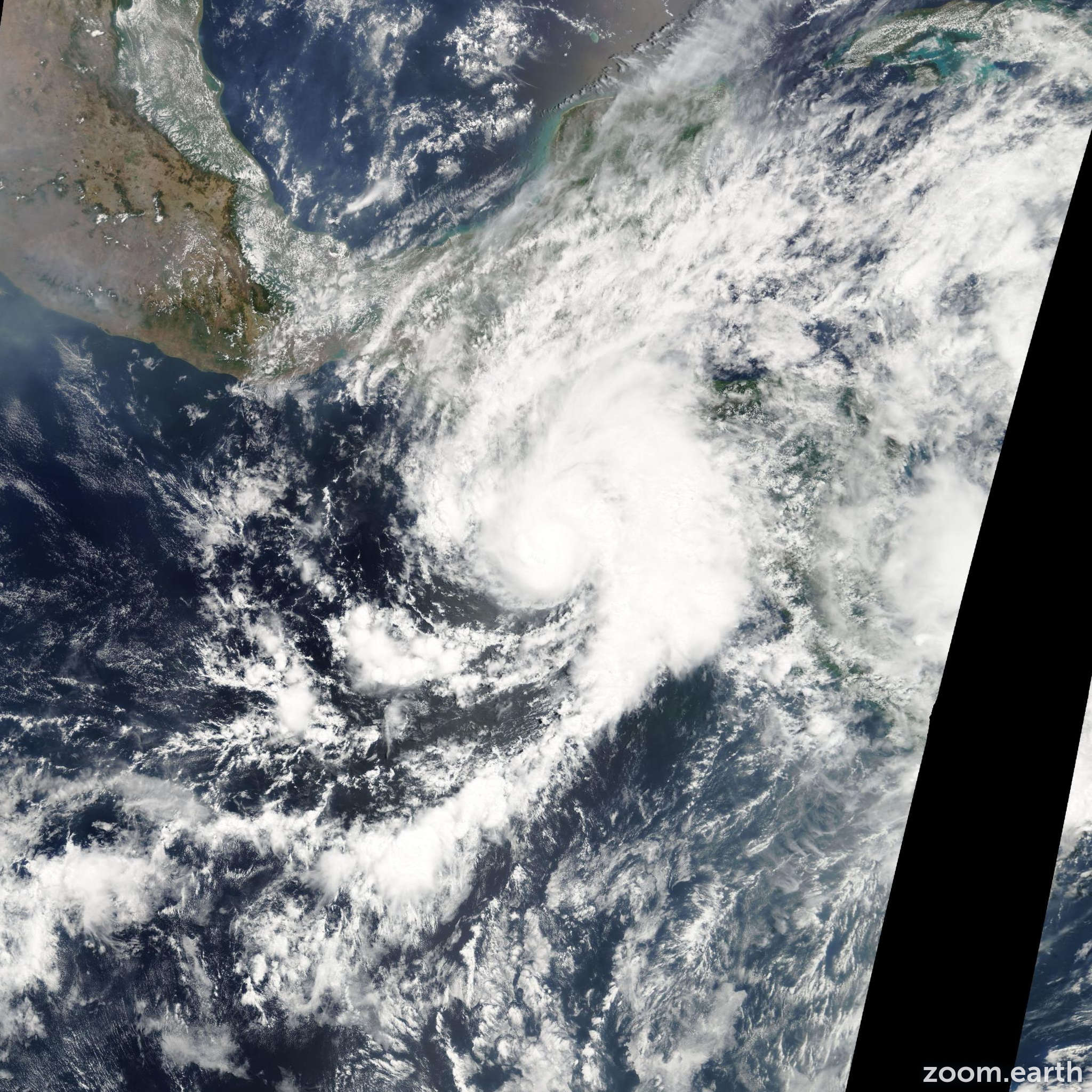 Satellite image of Hurricane Adrian 2005