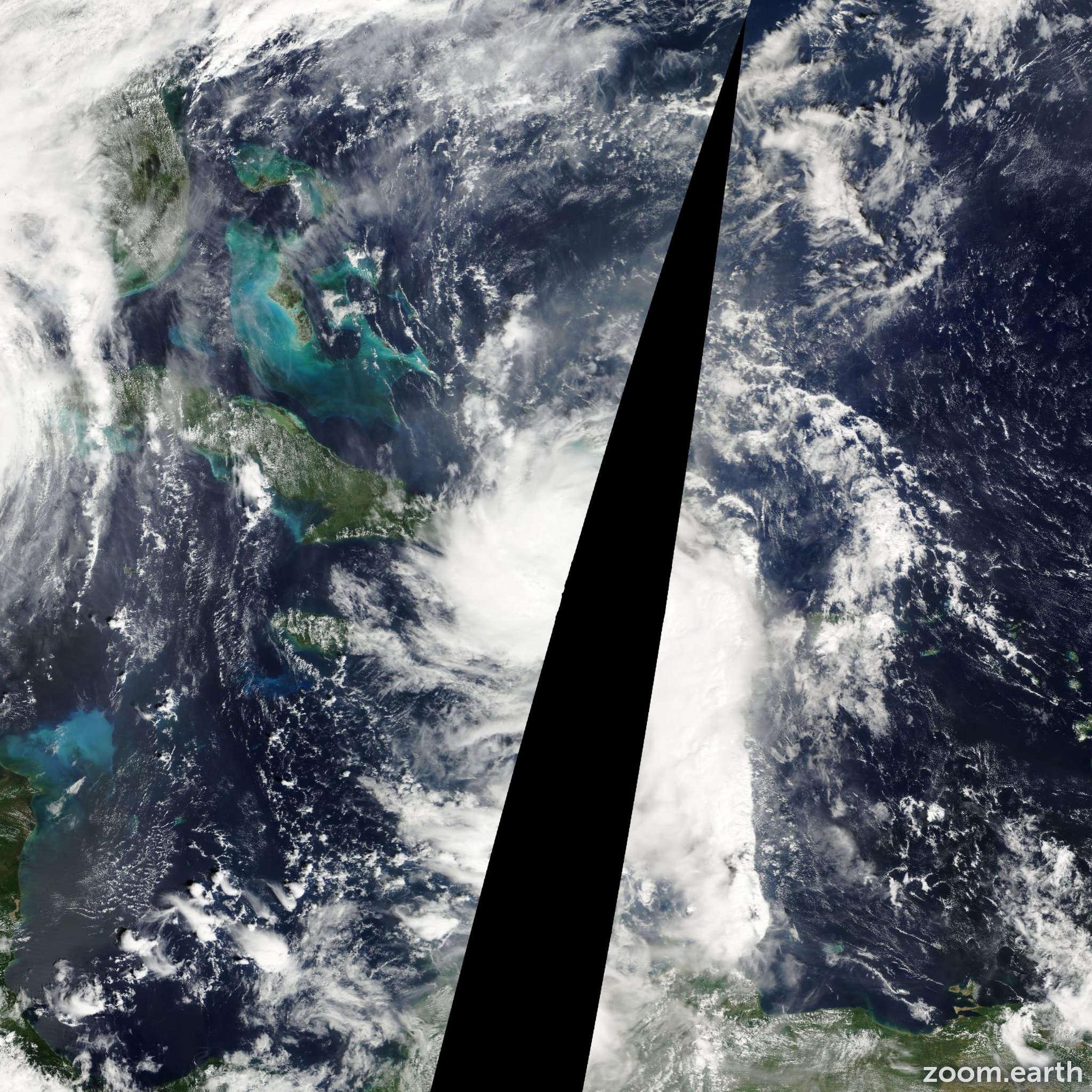 Satellite image of Storm Alpha 2005