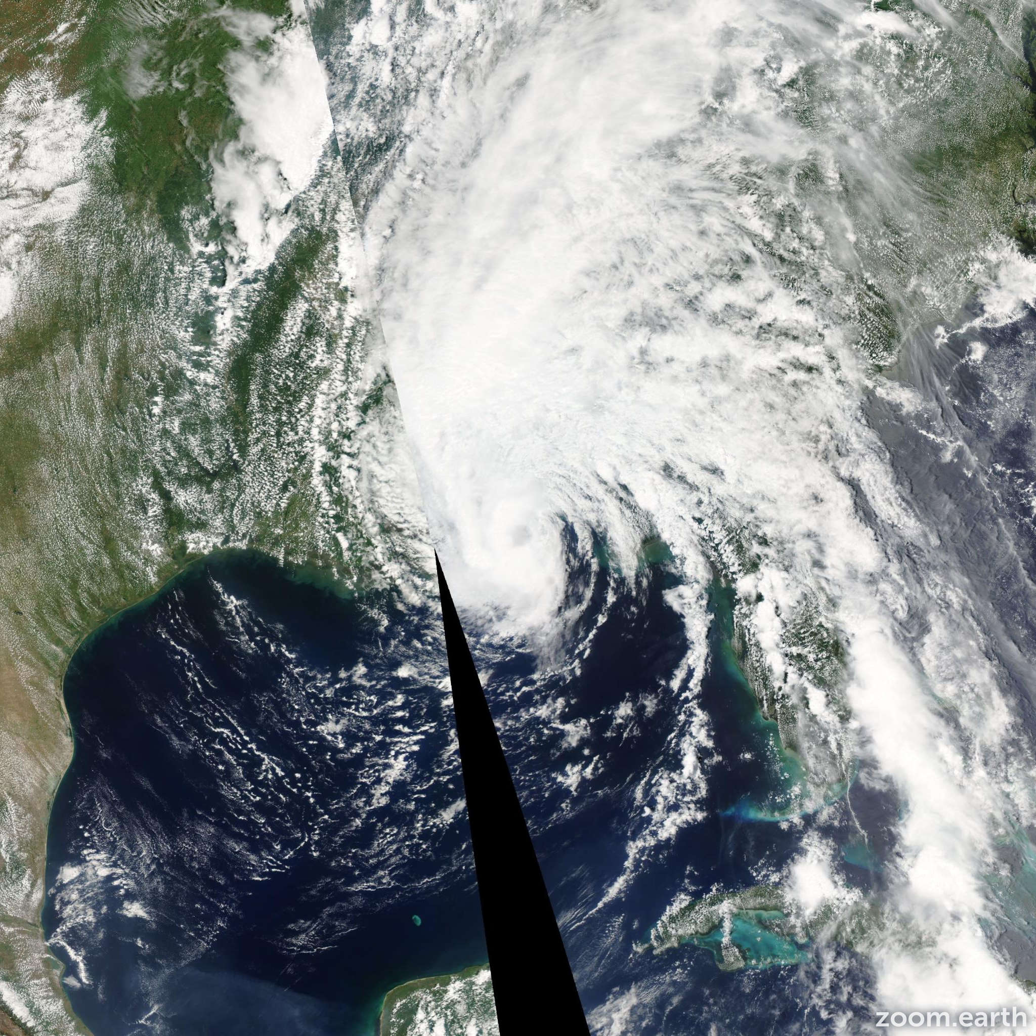 Satellite image of Storm Arlene 2005