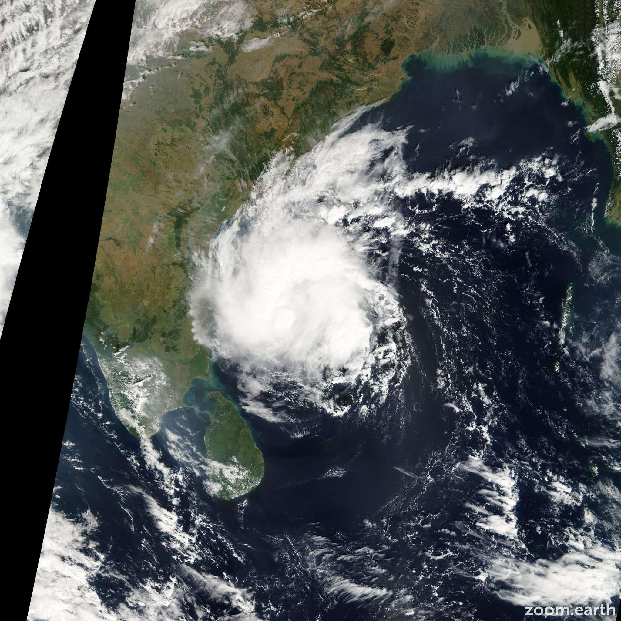 Satellite image of Cyclone Baaz 2005