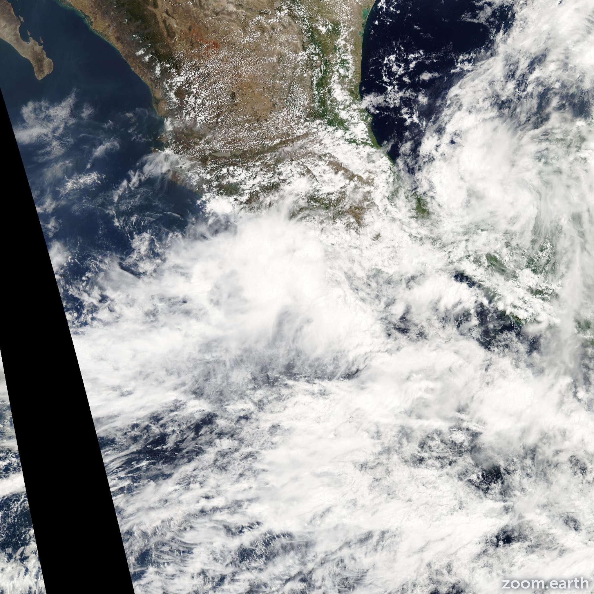 Satellite image of Storm Calvin 2005