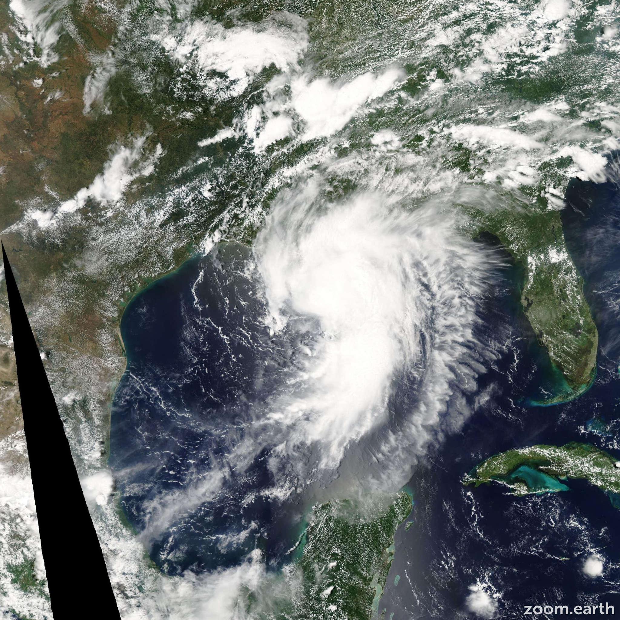 Satellite image of Hurricane Cindy 2005