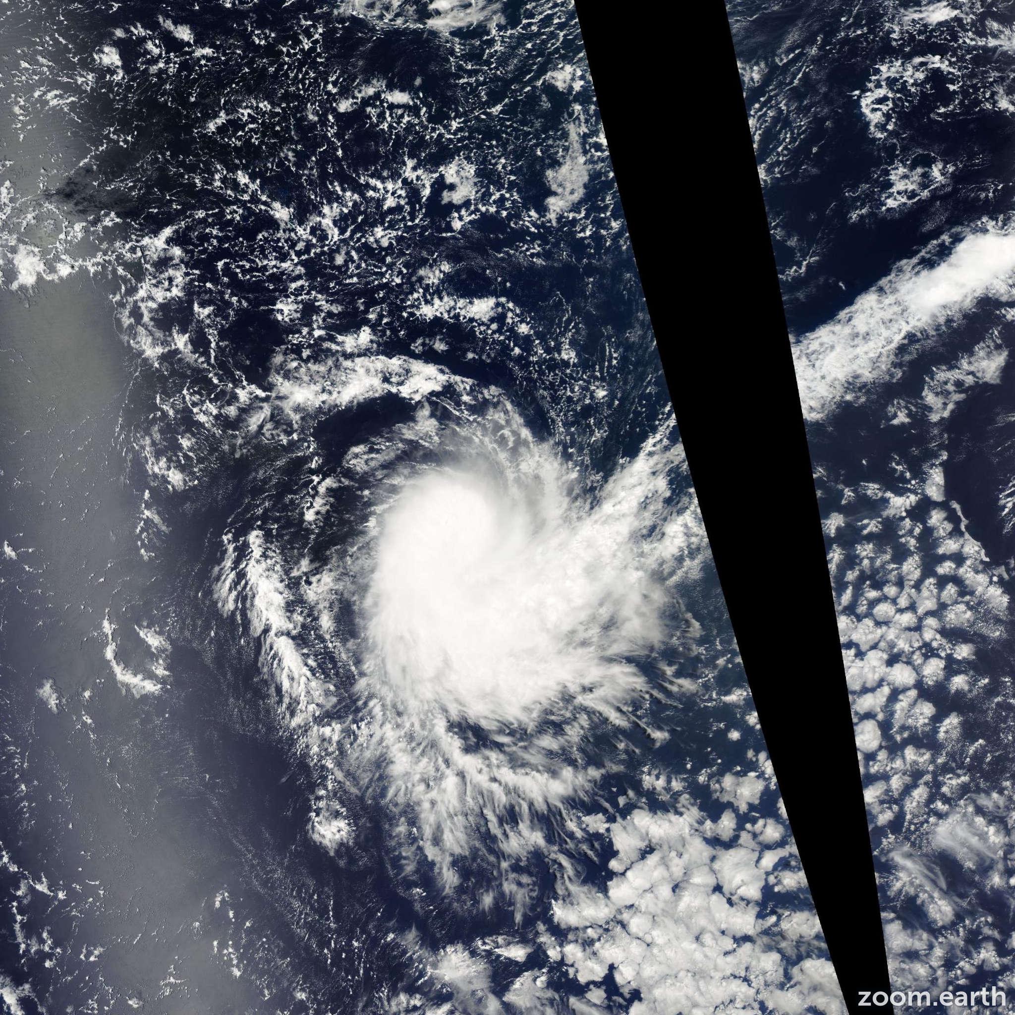 Satellite image of Storm Daren 2005