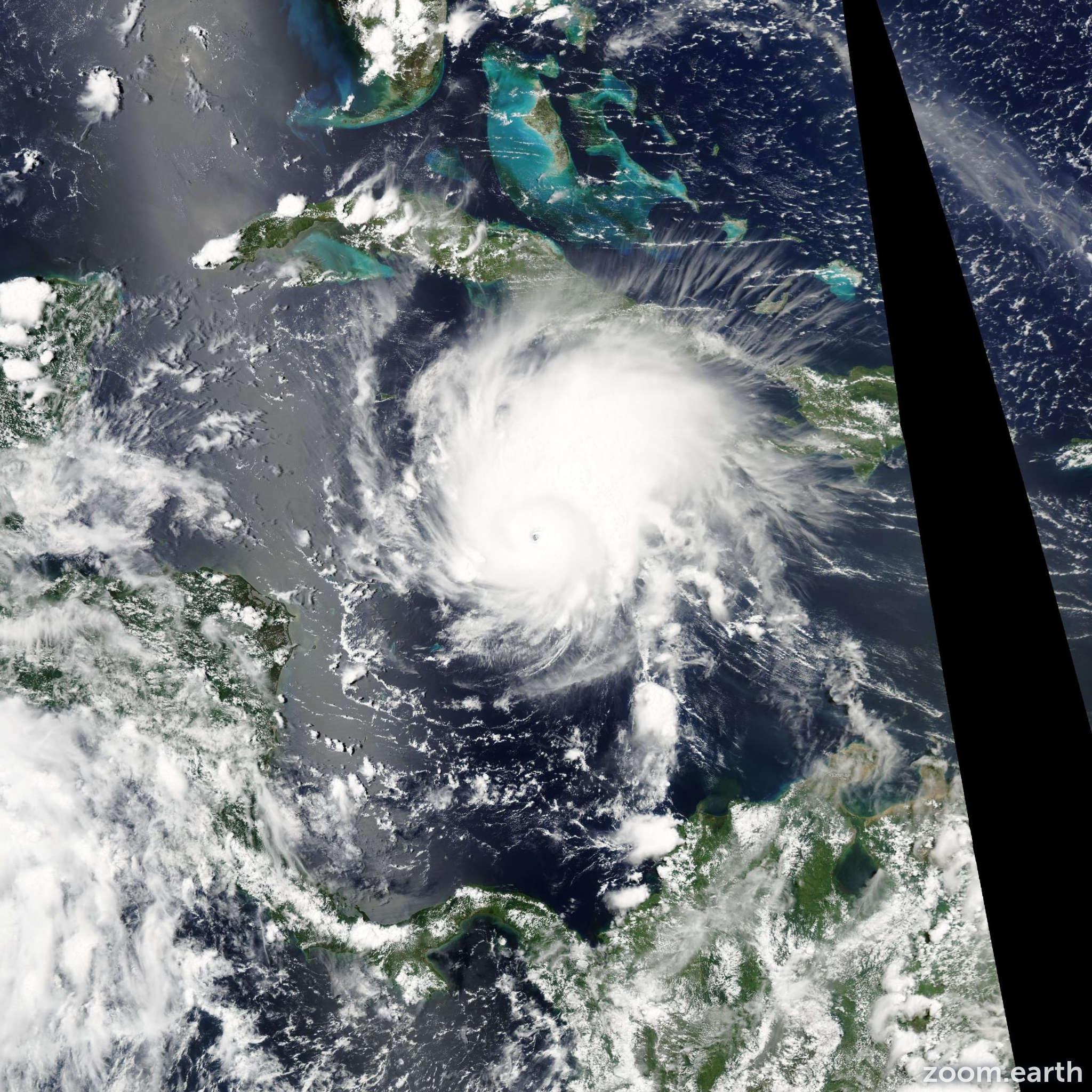 Satellite image of Hurricane Emily 2005