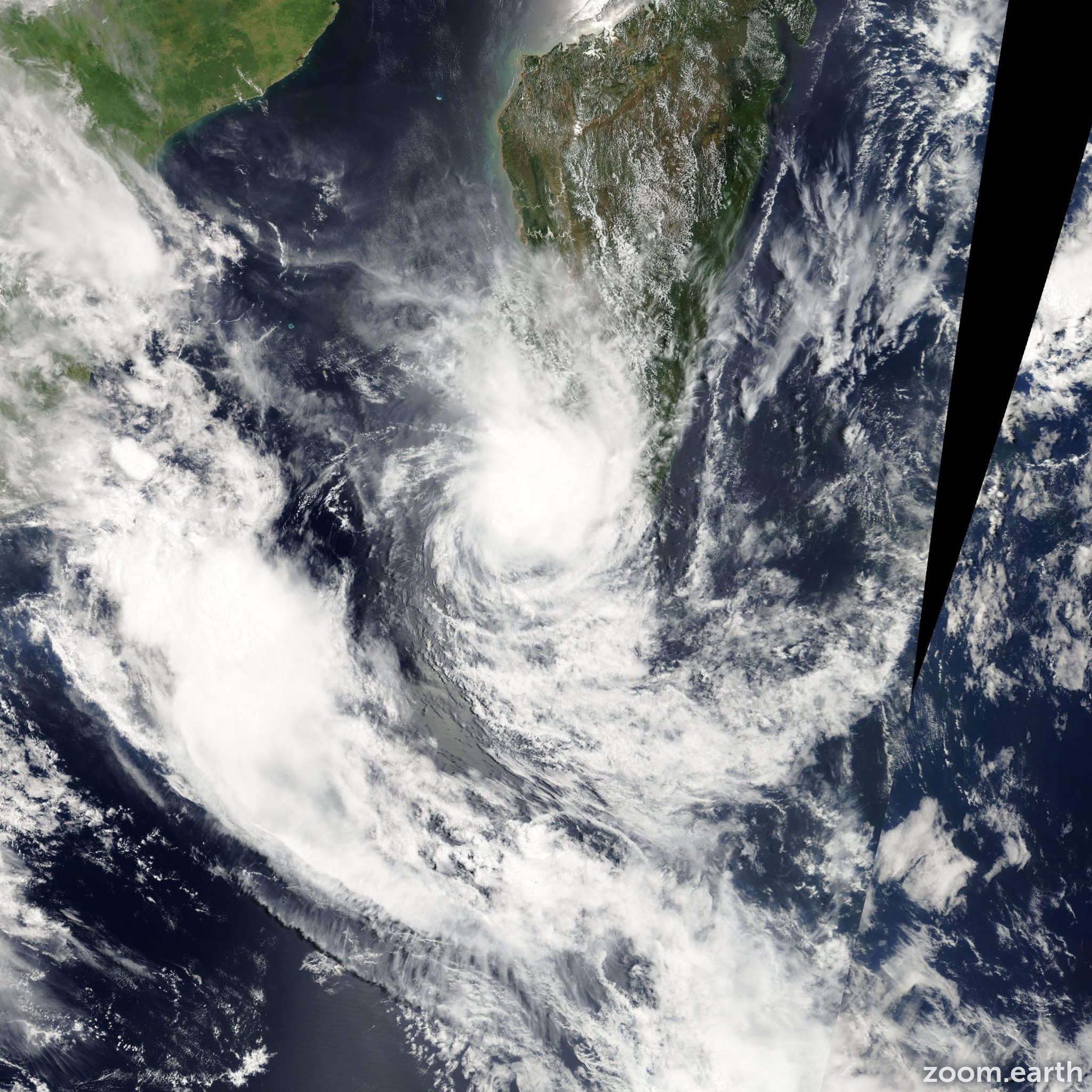 Satellite image of Cyclone Ernest 2005