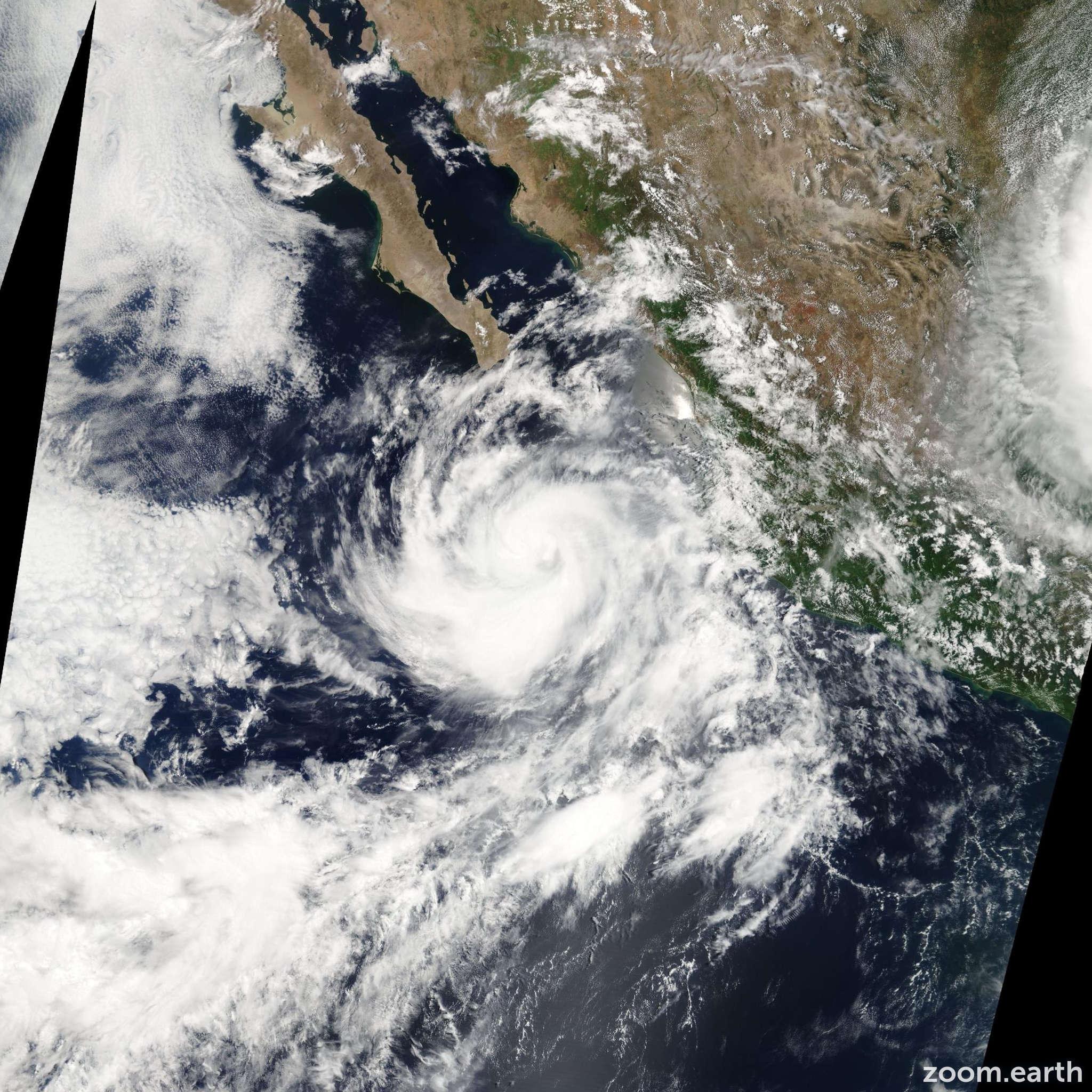 Satellite image of Storm Eugene 2005