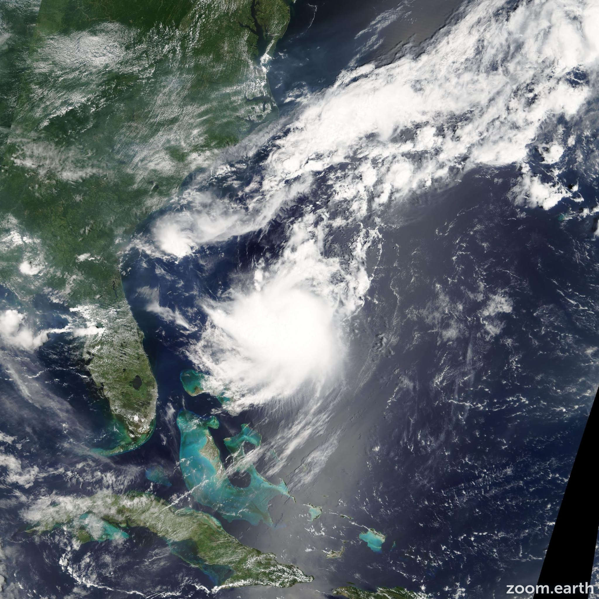 Satellite image of Storm Franklin 2005
