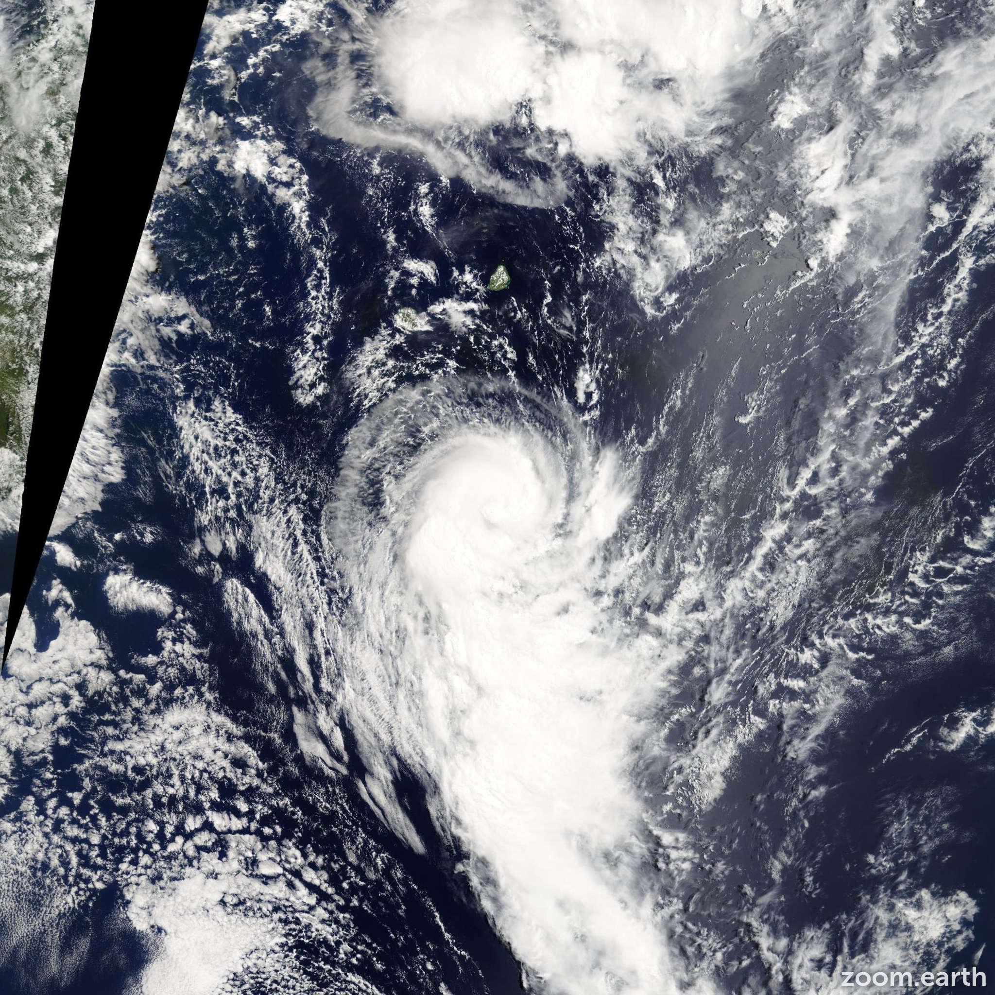 Satellite image of Storm Gerard 2005