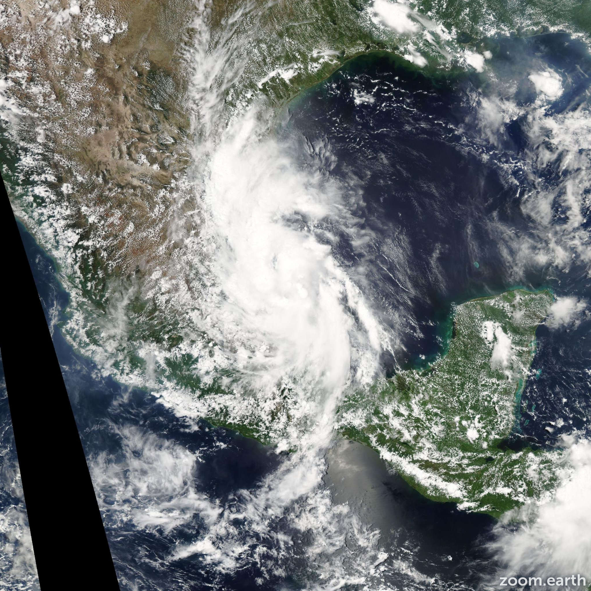 Satellite image of Storm Gert 2005