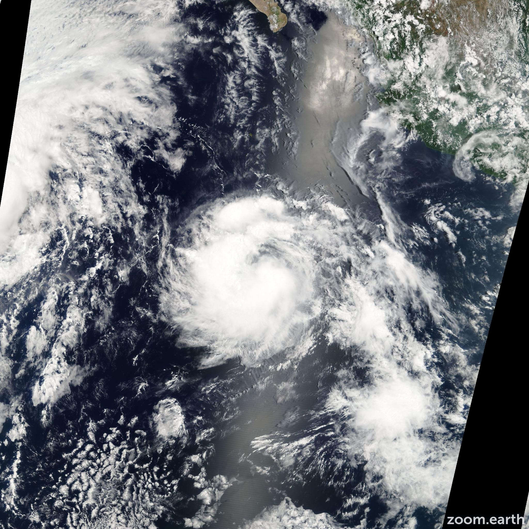 Satellite image of Storm Greg 2005
