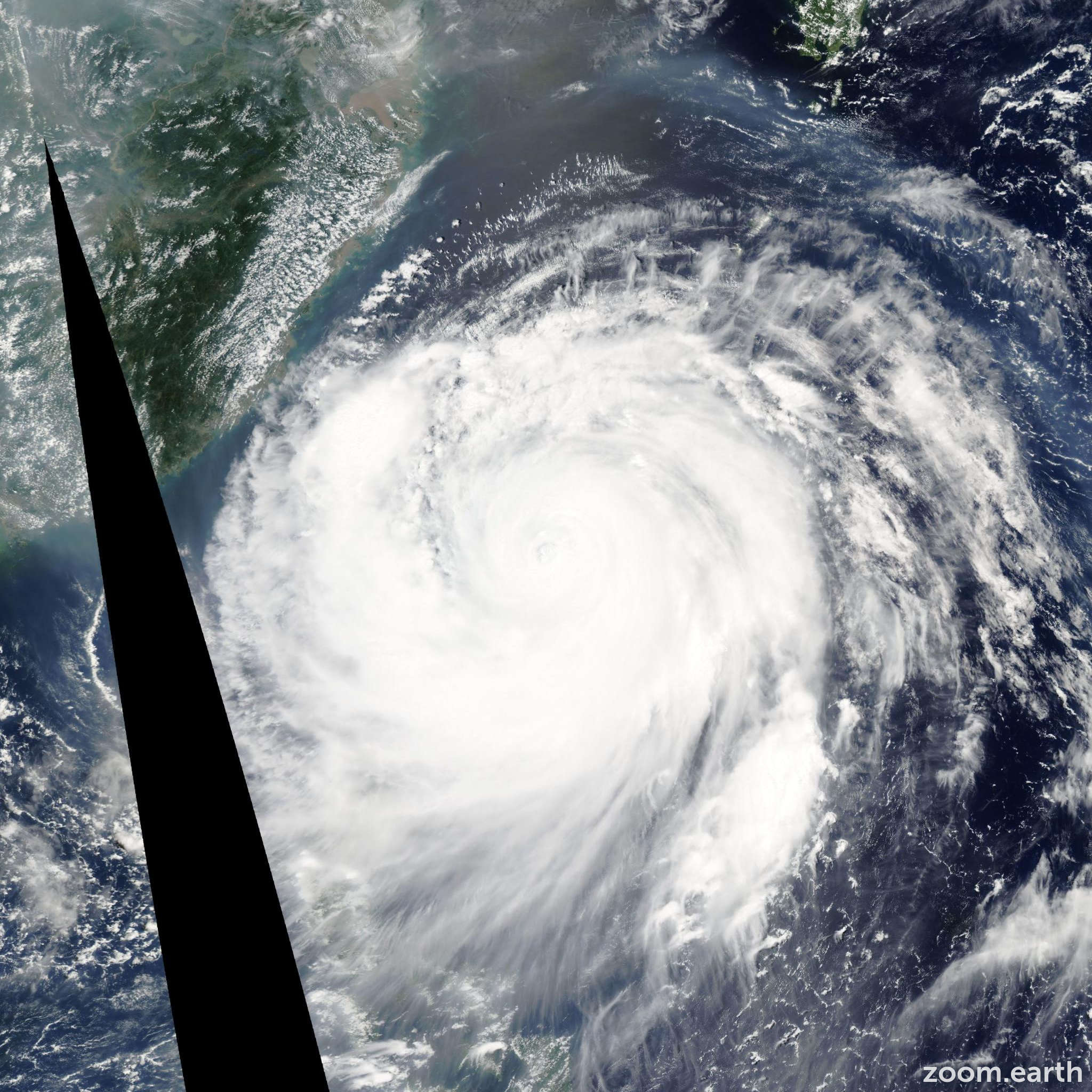 Satellite image of Typhoon Haitang 2005