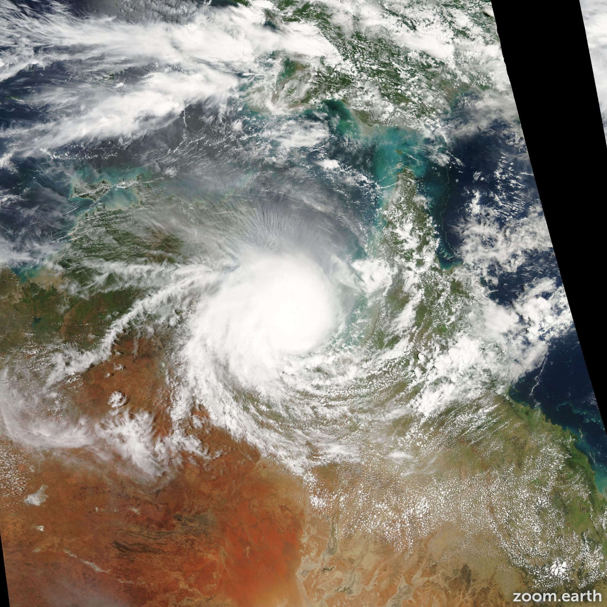 Satellite image of Cyclone Harvey 2005
